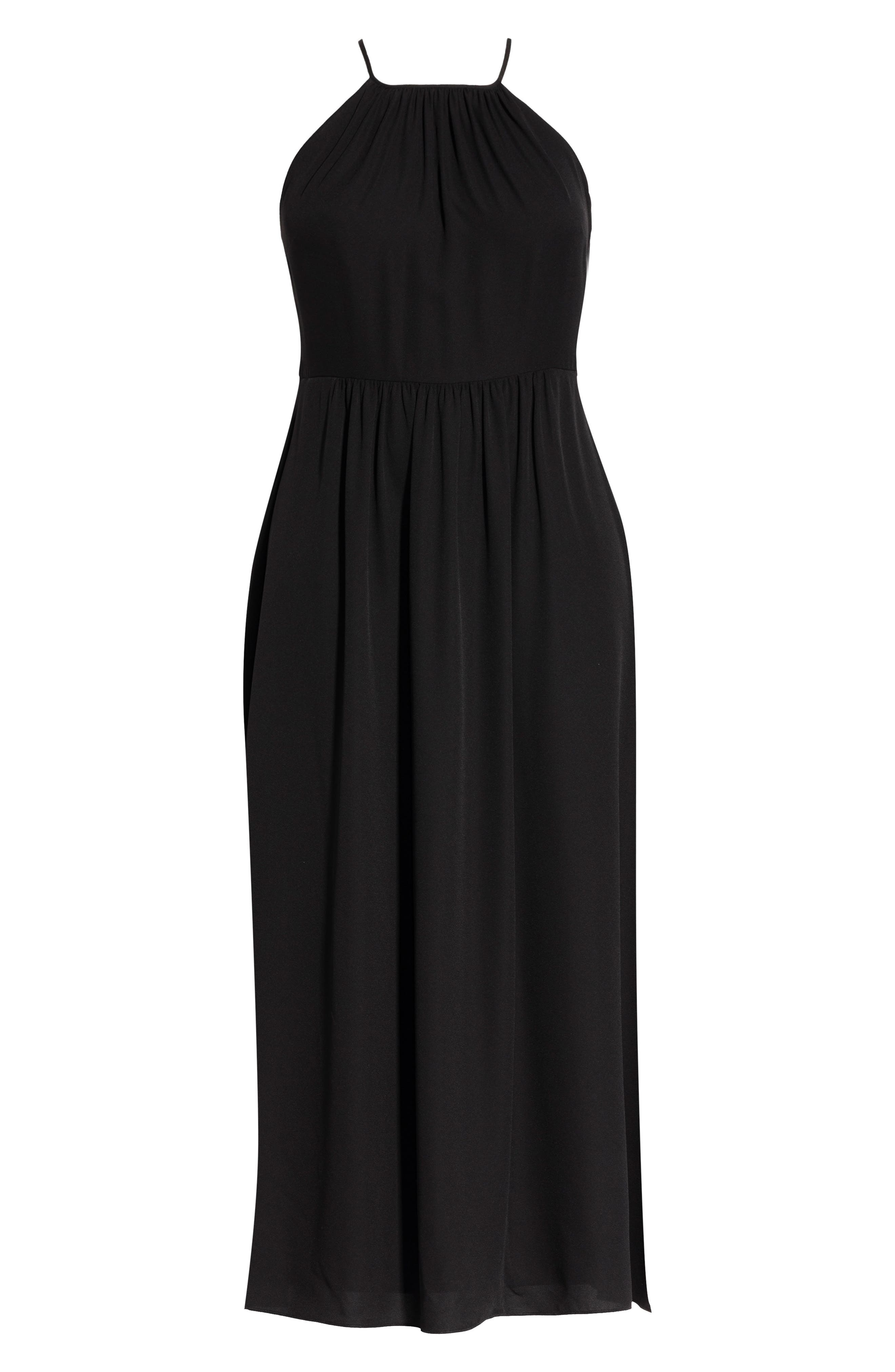 Devotion Maxi Dress,                             Alternate thumbnail 3, color,                             BLACK