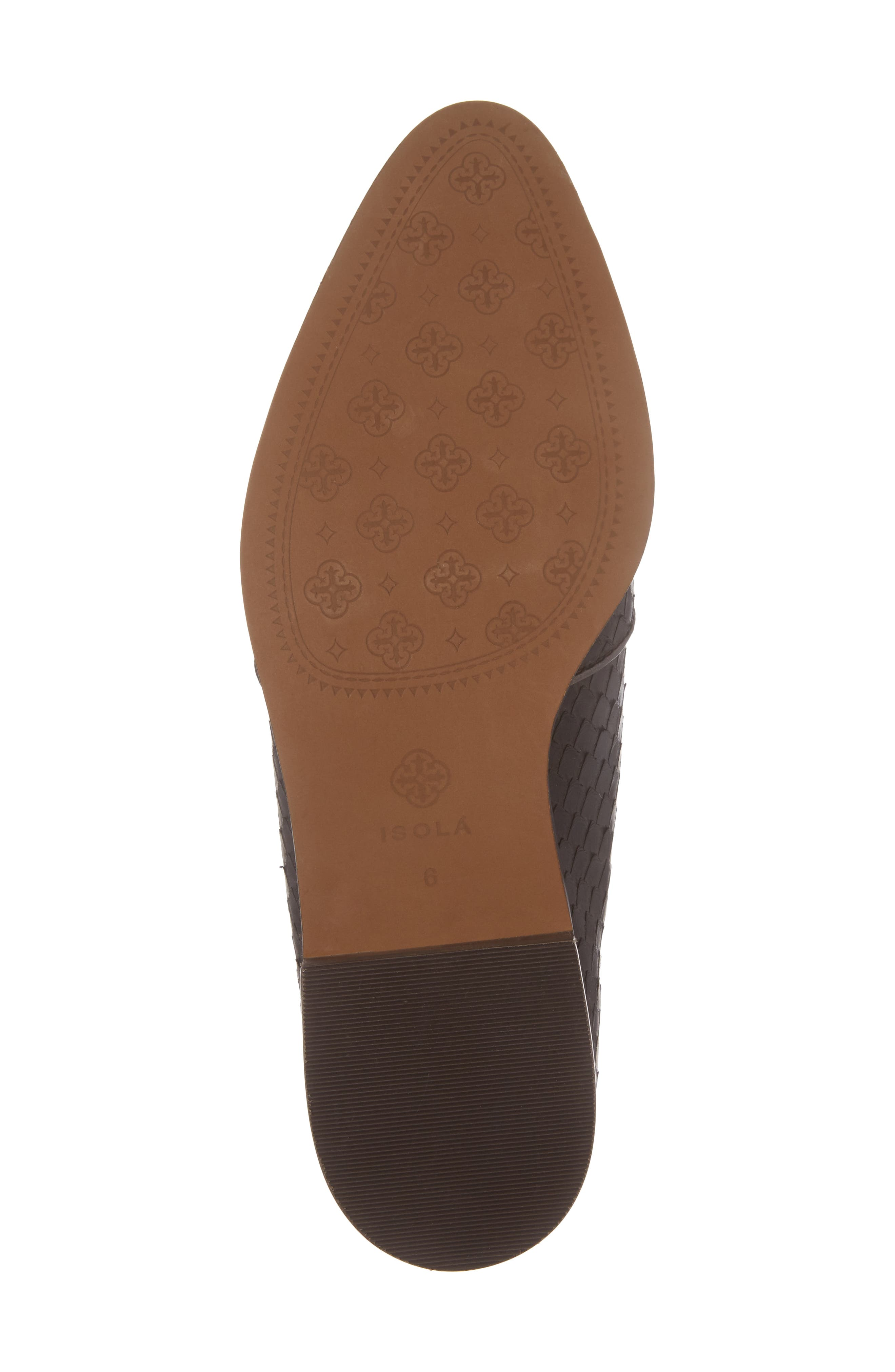 Isola Maria Slip-On Oxford,                             Alternate thumbnail 6, color,                             T. MORO BROWN LEATHER