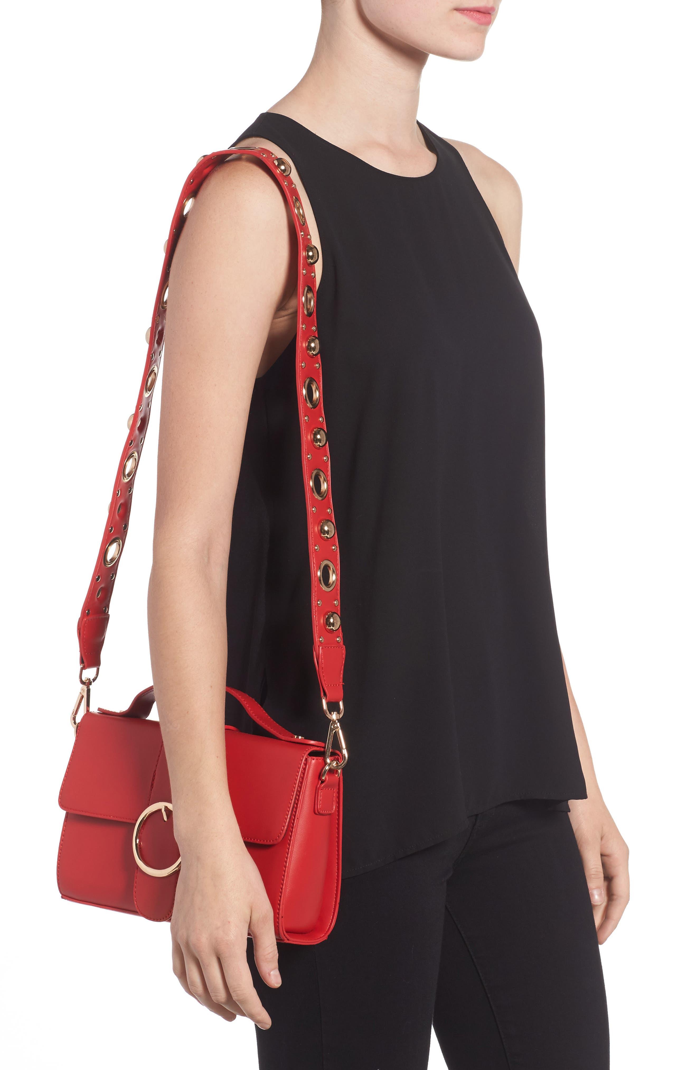 Studded Strap Crossbody Bag,                             Alternate thumbnail 4, color,