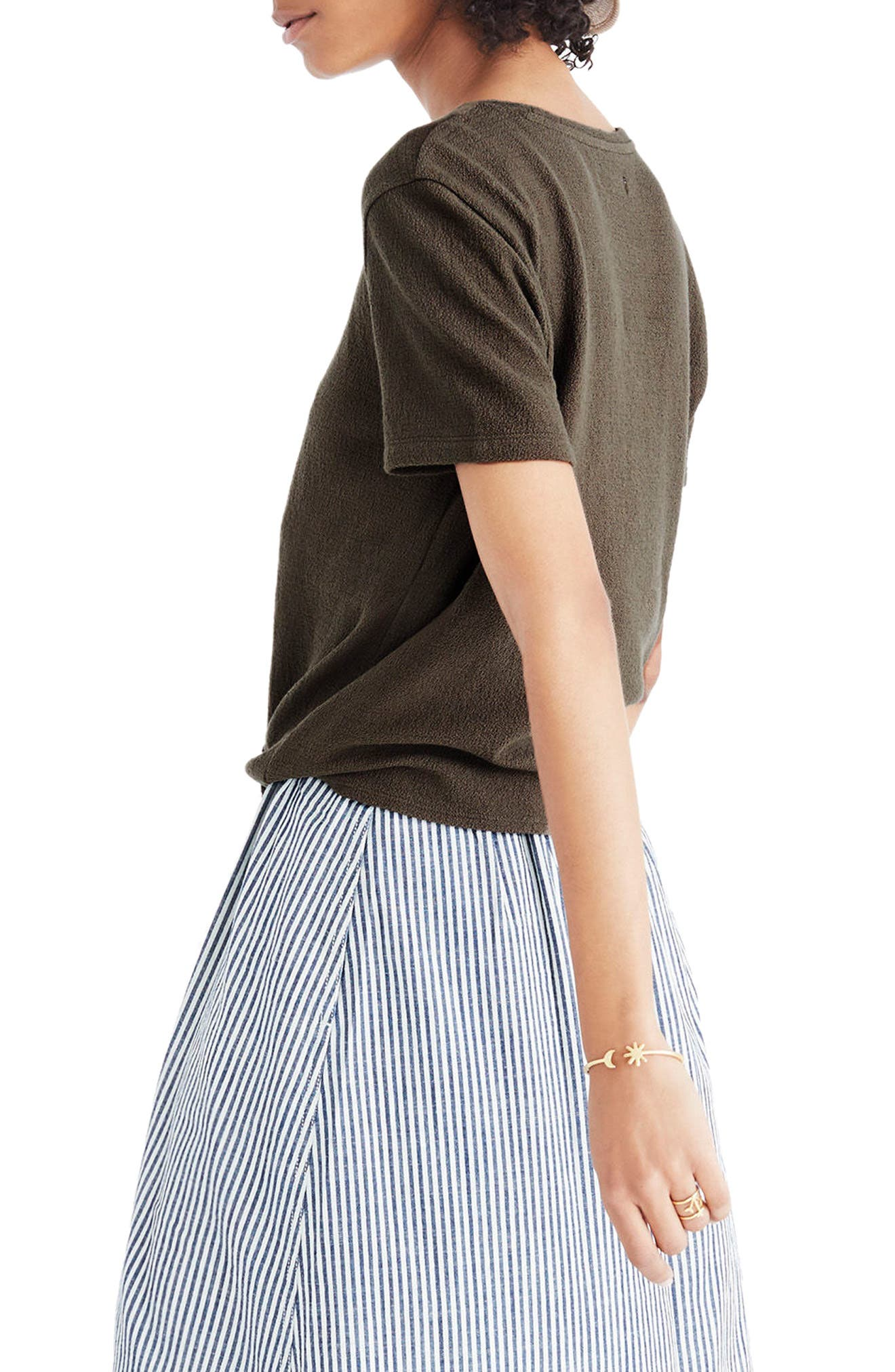 MADEWELL,                             Modern Tie Front Tee,                             Alternate thumbnail 3, color,                             300