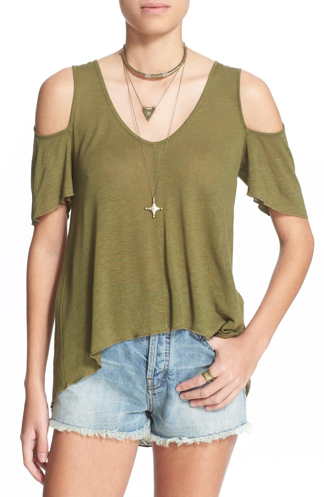 Bittersweet Cold Shoulder Top,                             Main thumbnail 4, color,