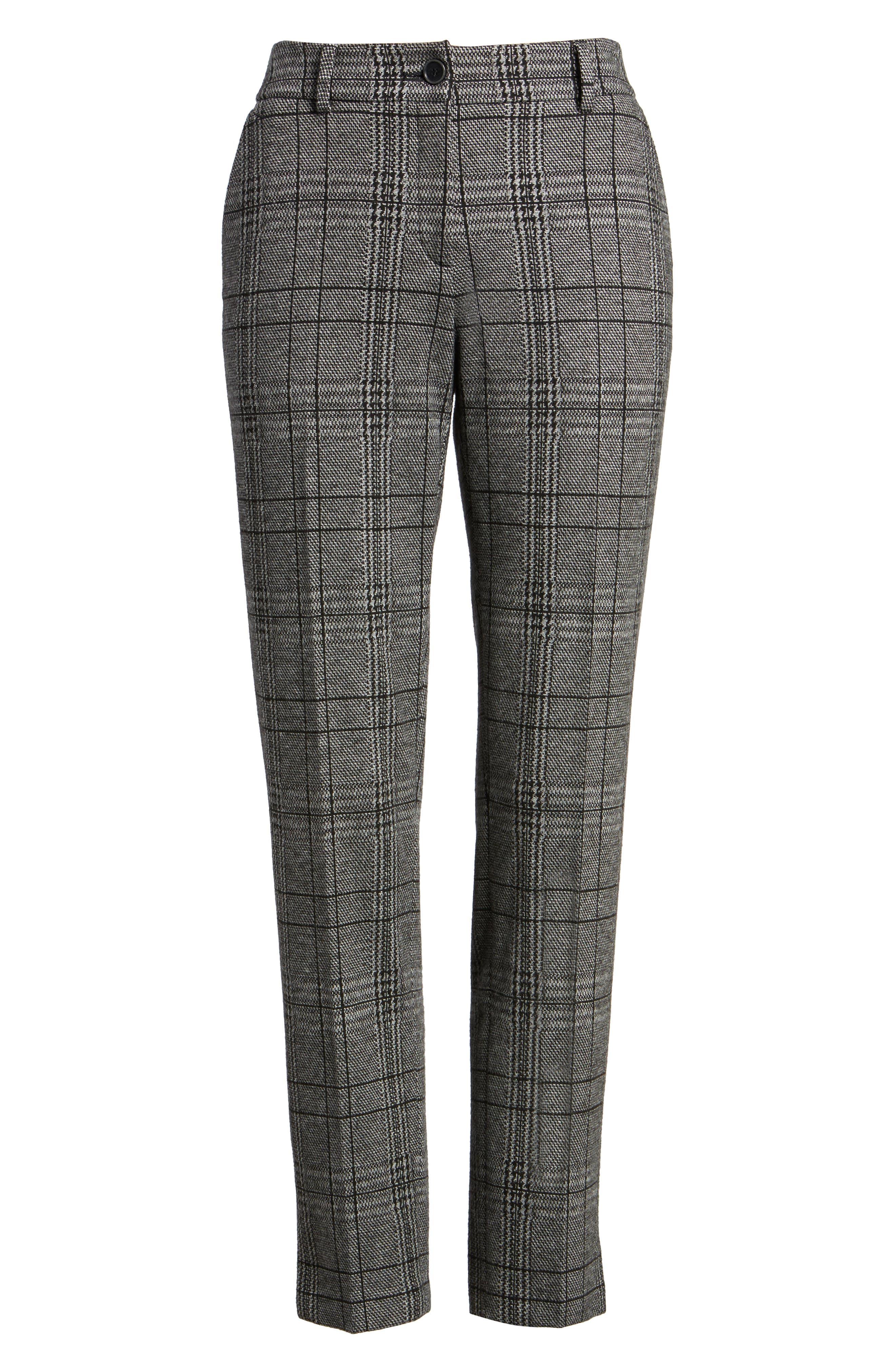 Check Plaid Trousers,                             Alternate thumbnail 6, color,                             002