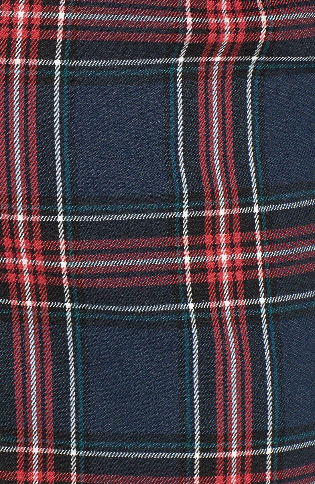 Plaid Crop Pants,                             Alternate thumbnail 2, color,                             400
