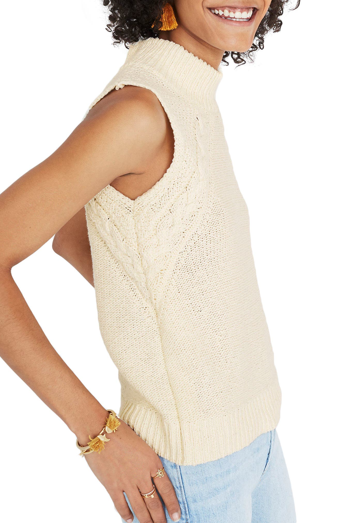Mixed Stitch Sweater Tank,                             Alternate thumbnail 3, color,                             250