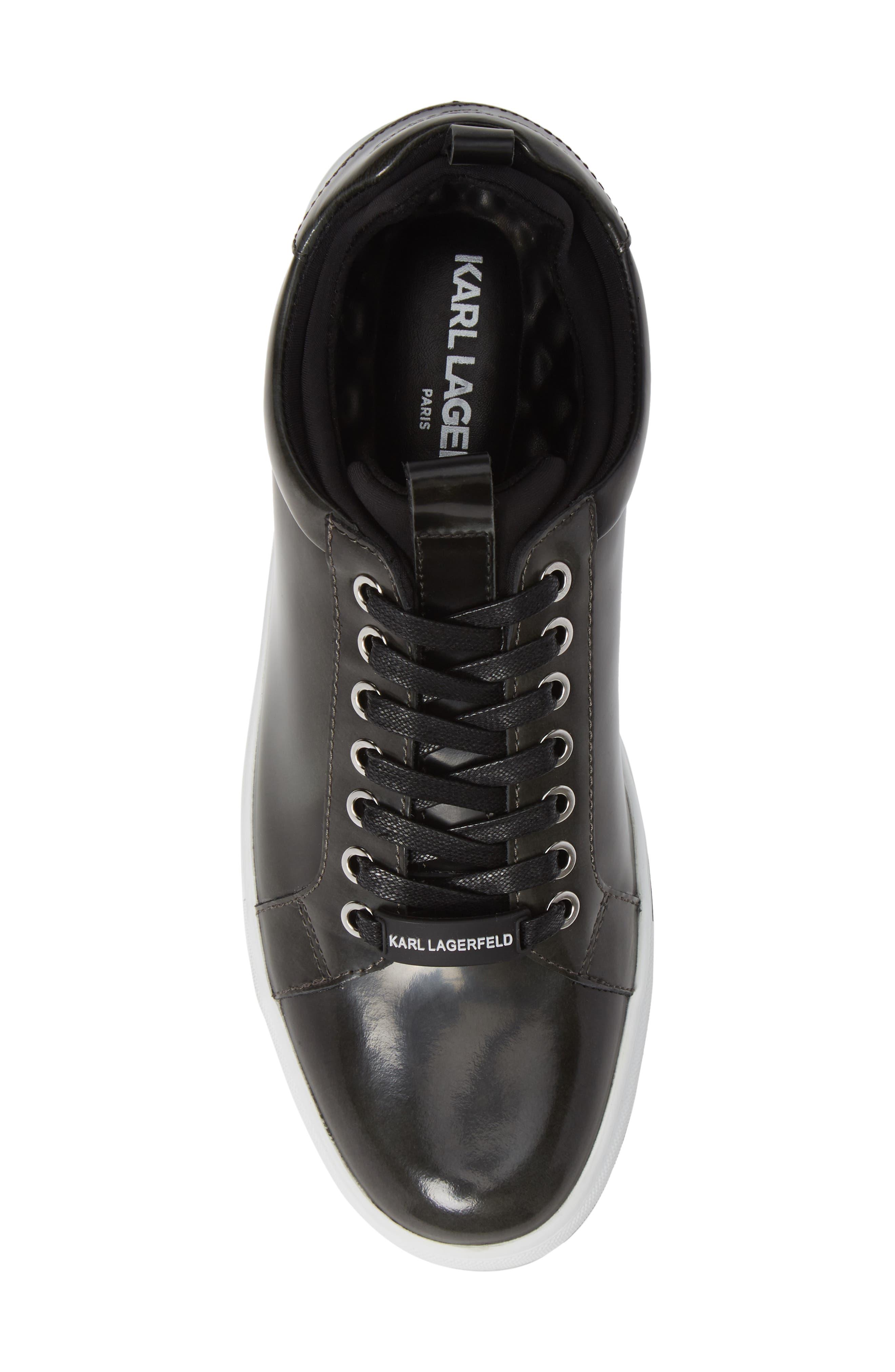 Box Inner Sock Sneaker,                             Alternate thumbnail 5, color,                             DARK GREY