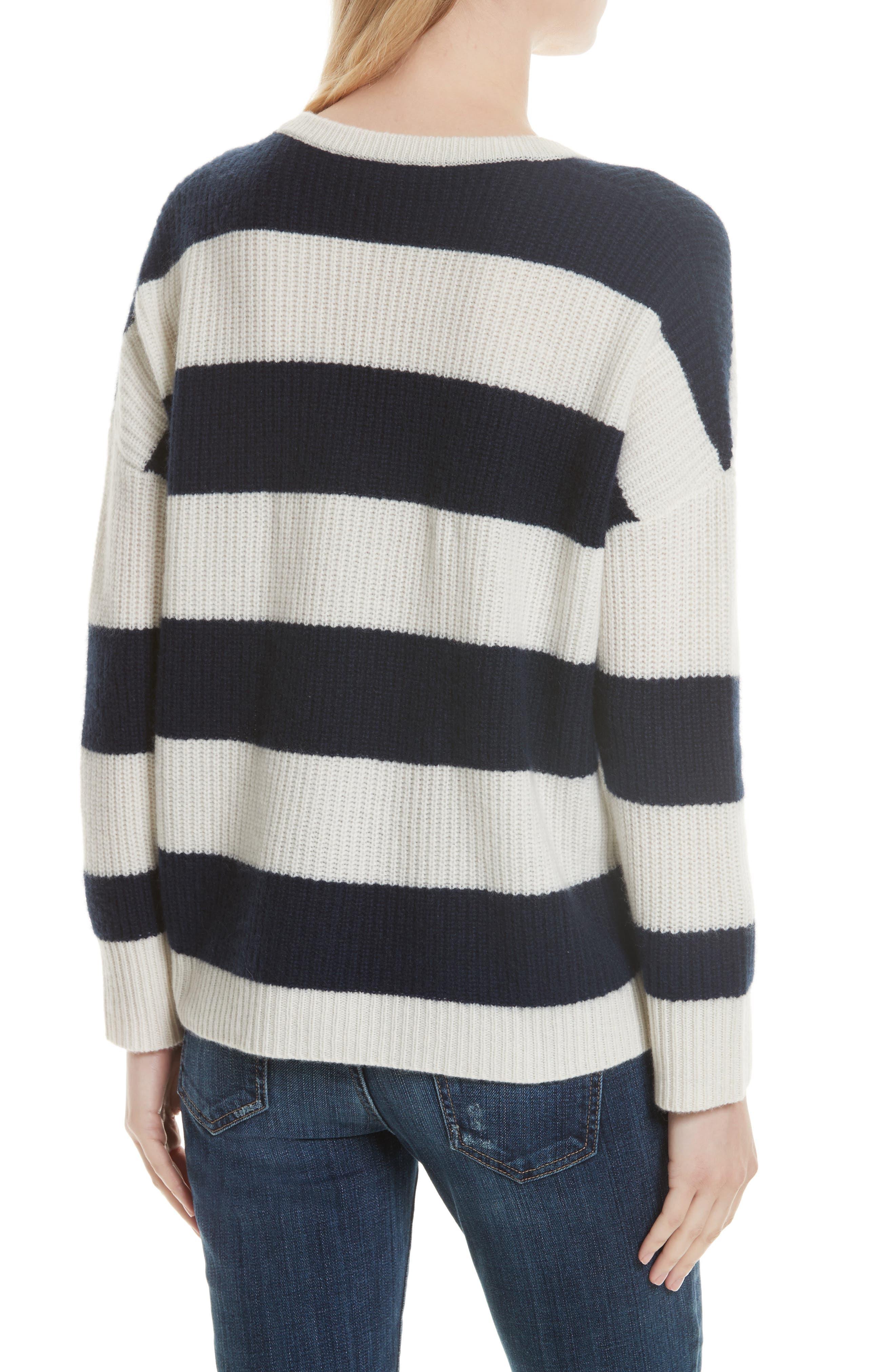 Cashmere Stripe Sweater,                             Alternate thumbnail 2, color,                             902