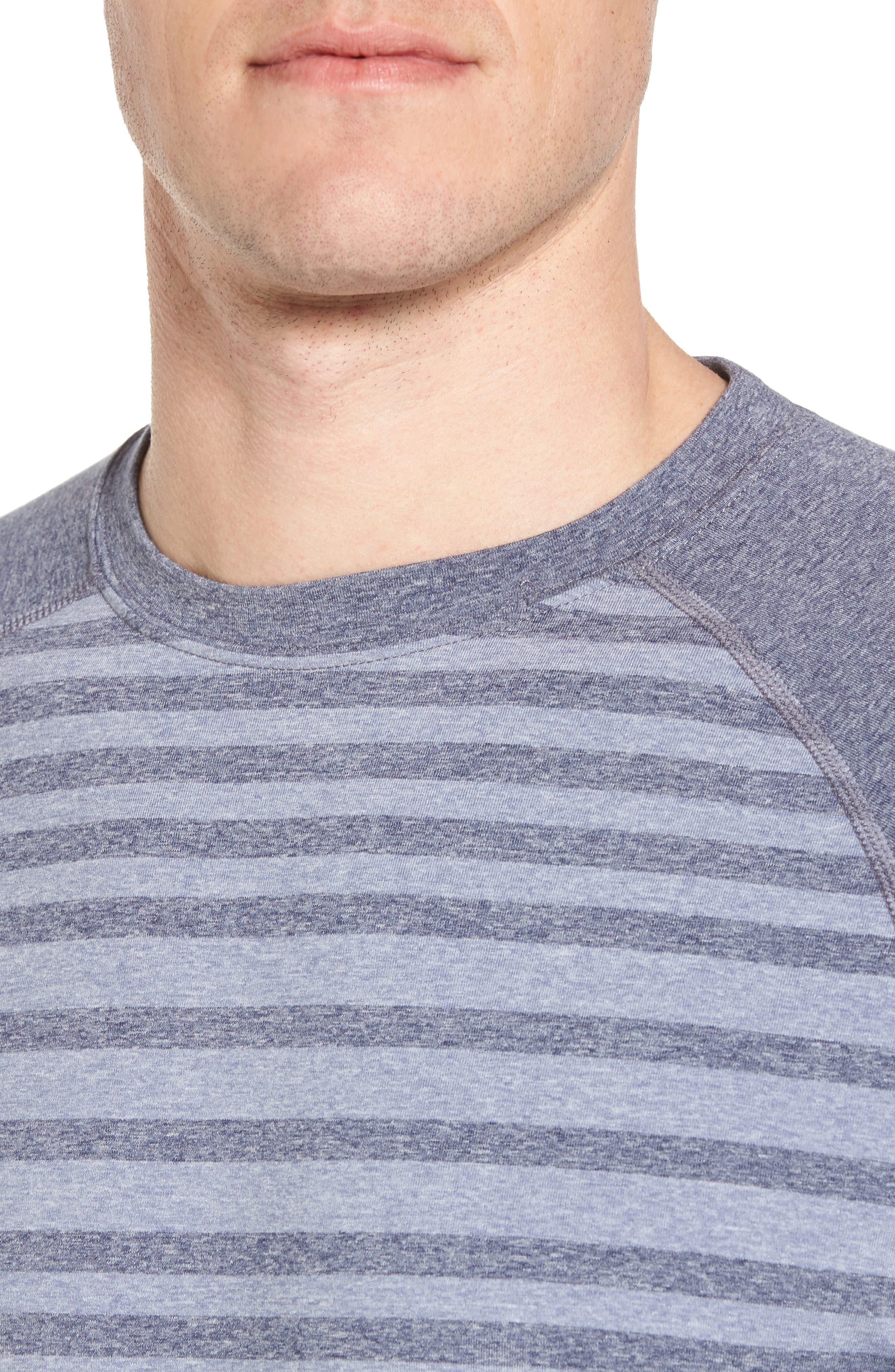Rio Stripe Technical T-Shirt,                             Alternate thumbnail 8, color,