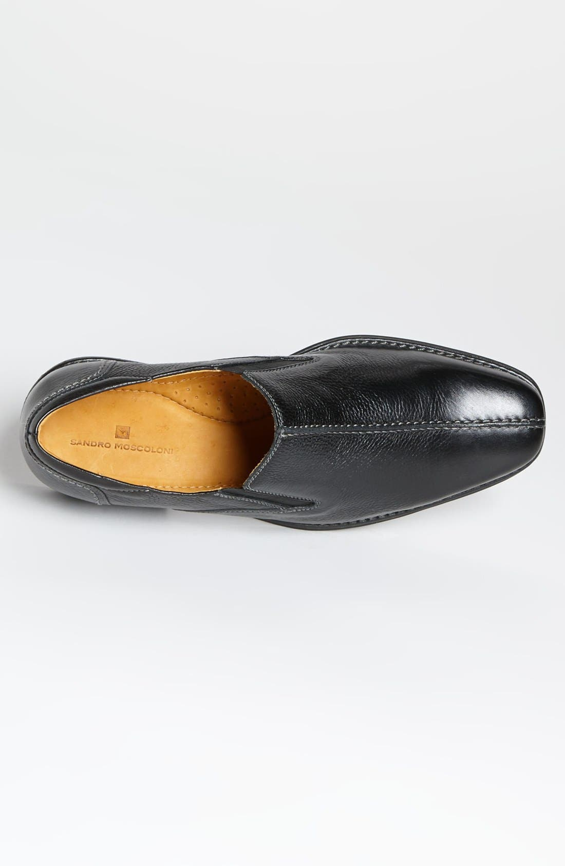 'Tampa' Loafer,                             Alternate thumbnail 4, color,                             BLACK