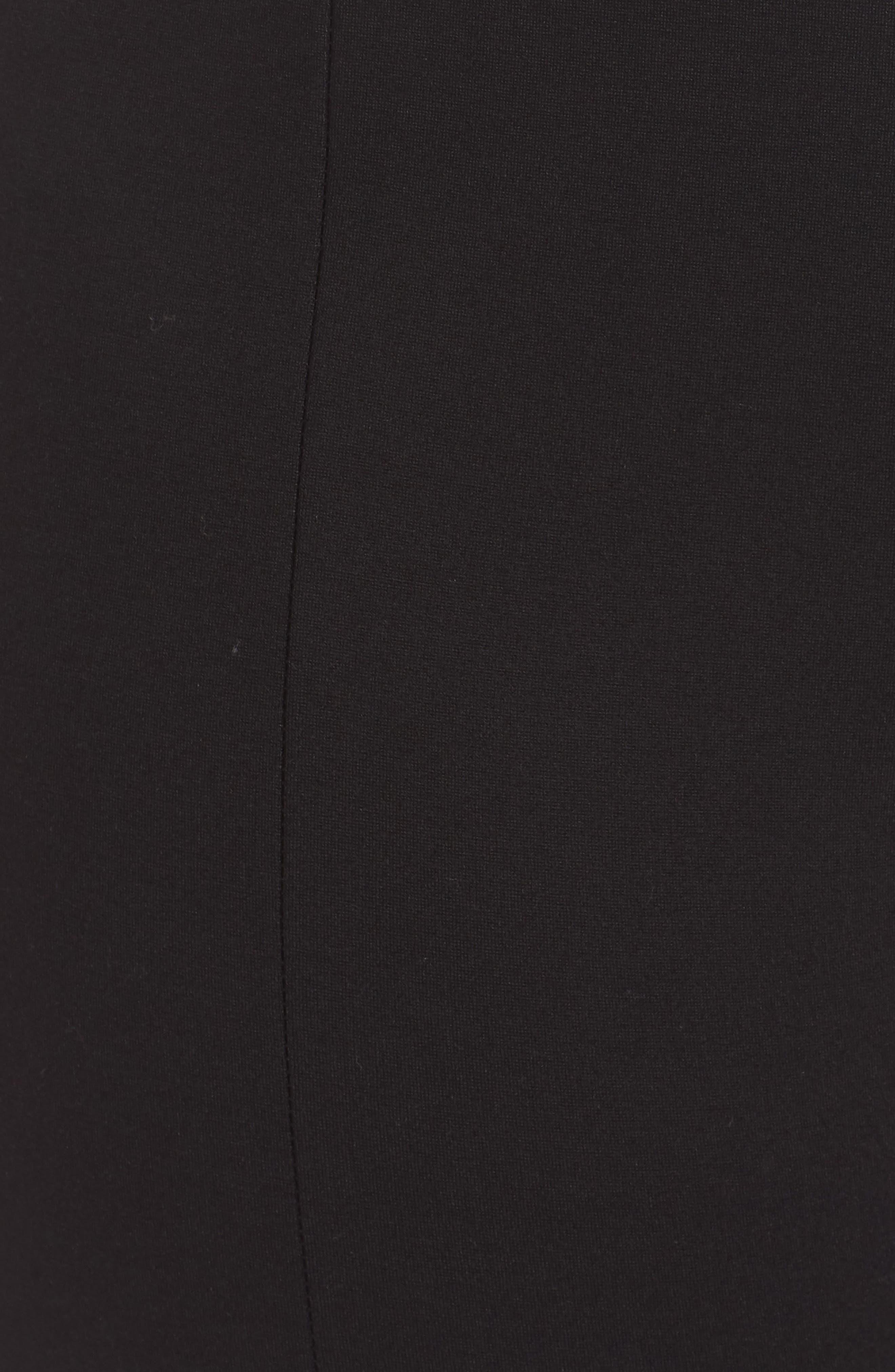 Slit Hem Ankle Leggings,                             Alternate thumbnail 6, color,                             001
