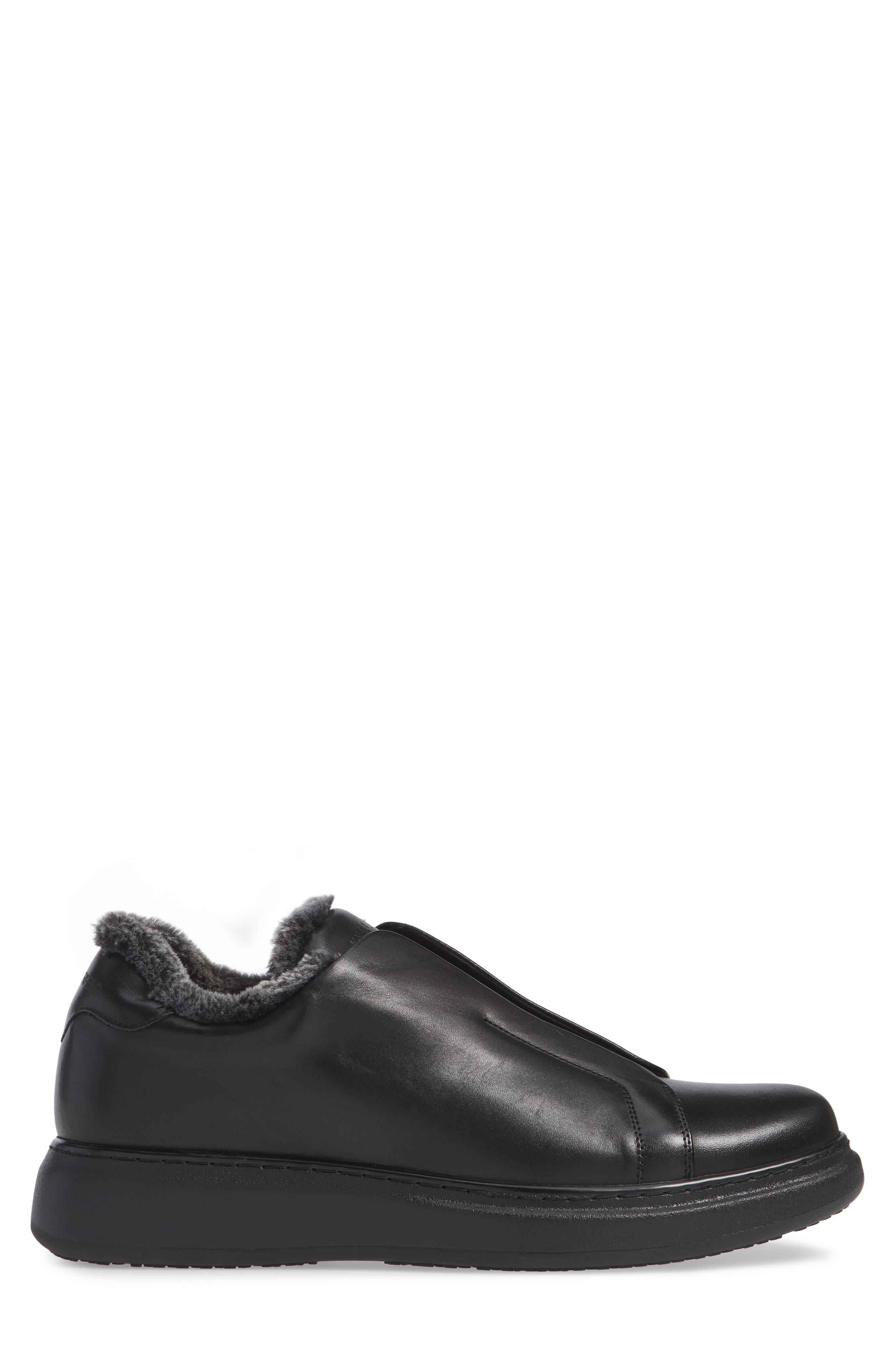 Laceless Sneaker,                             Alternate thumbnail 3, color,                             BLACK