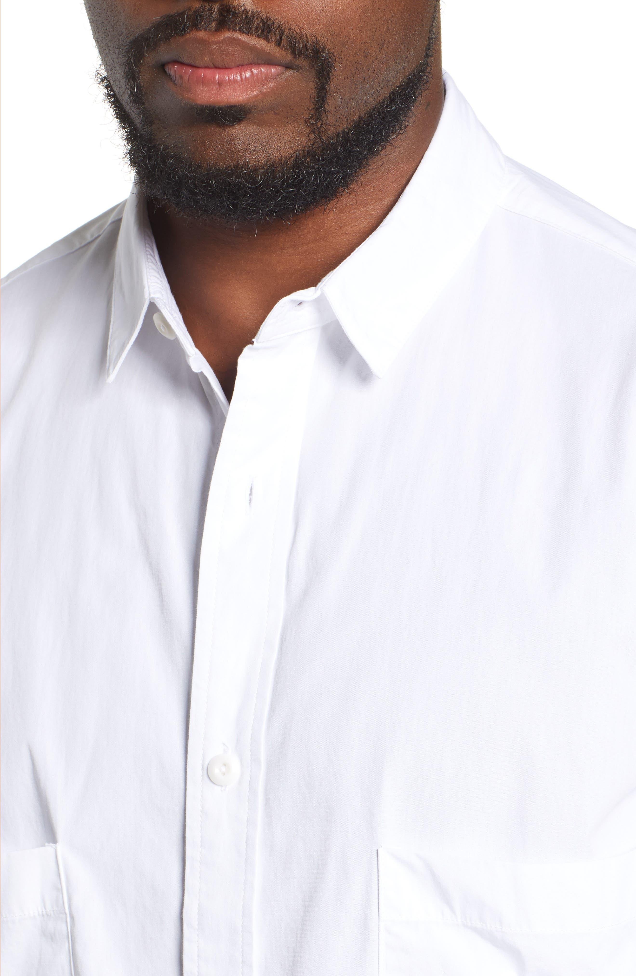 Shiro Oversize Pockets Regular Fit Sport Shirt,                             Alternate thumbnail 2, color,                             TRUE WHITE