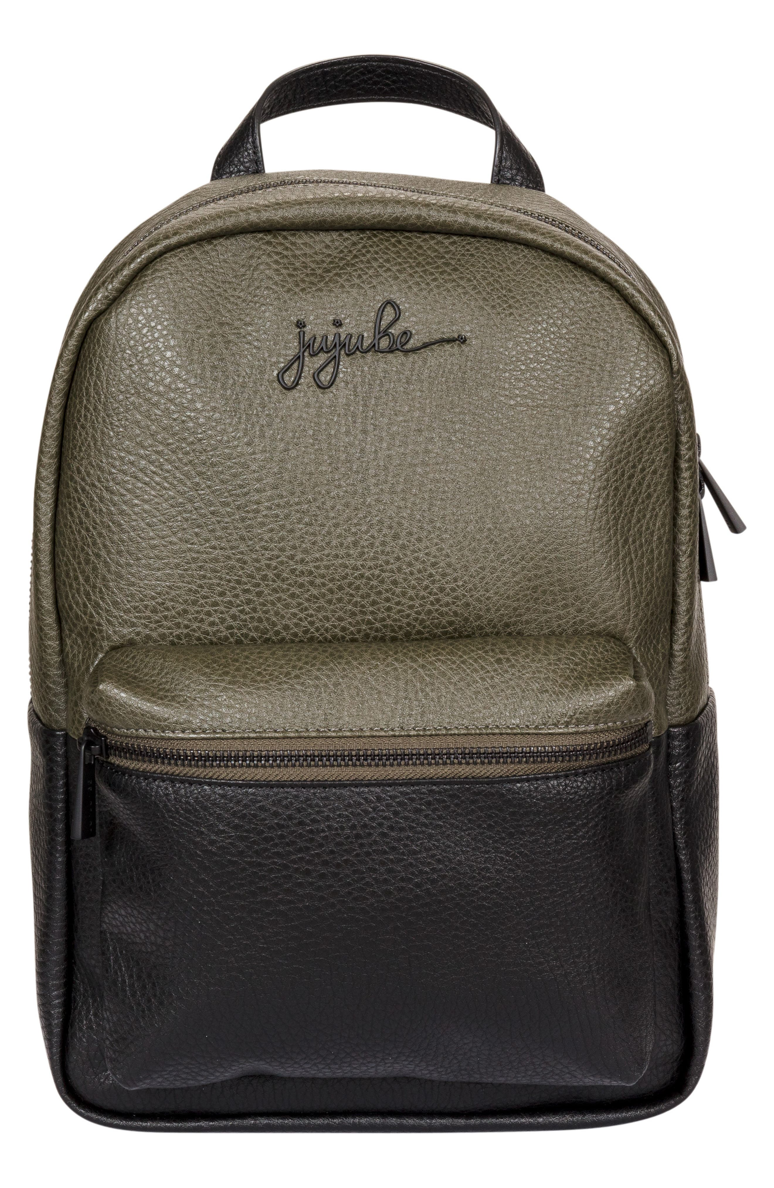 Infant JuJuBe Ever Collection Mini Faux Leather Diaper Backpack  Green