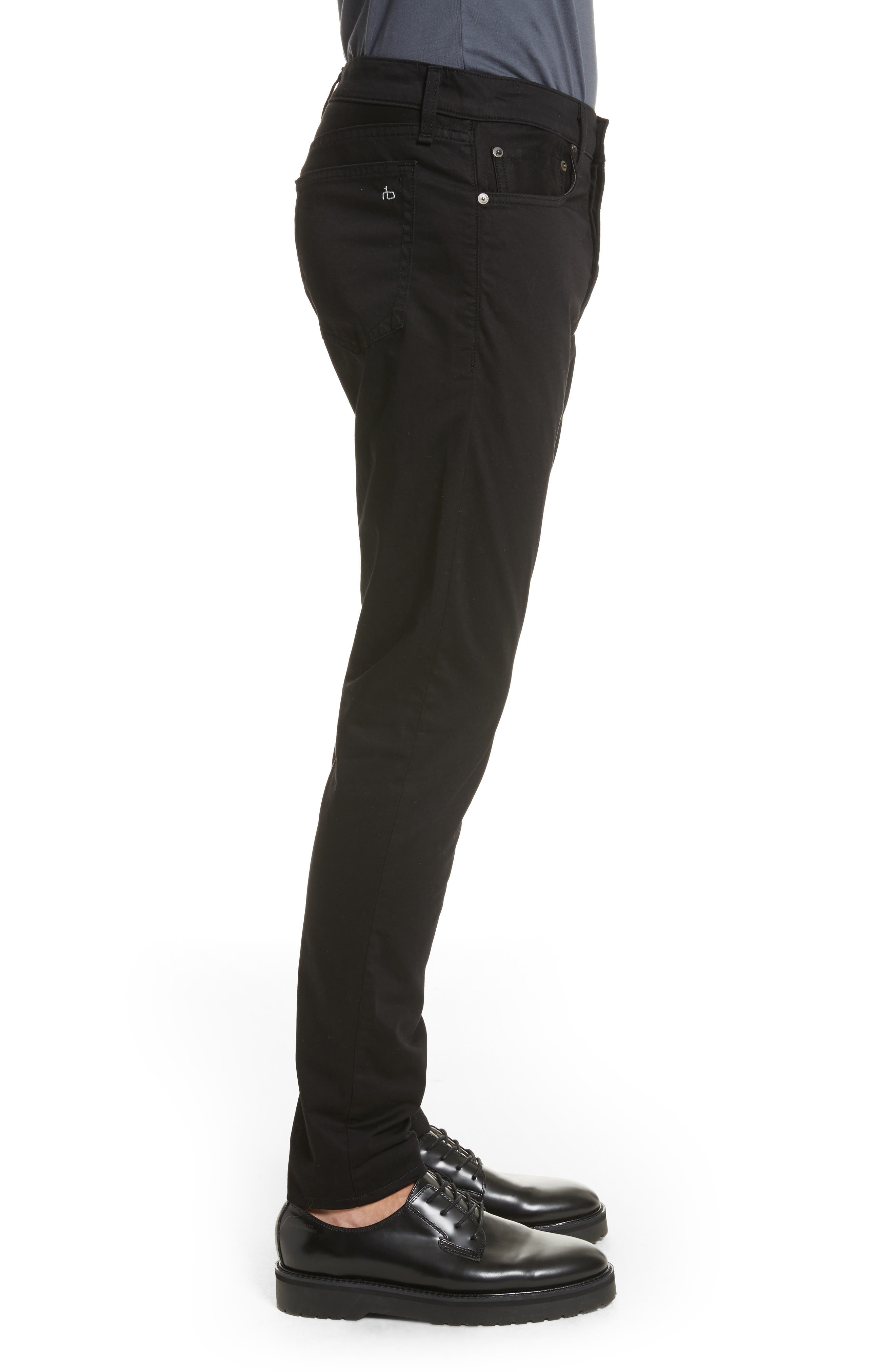 Fit 1 Twill Skinny Fit Pants,                             Alternate thumbnail 3, color,                             001