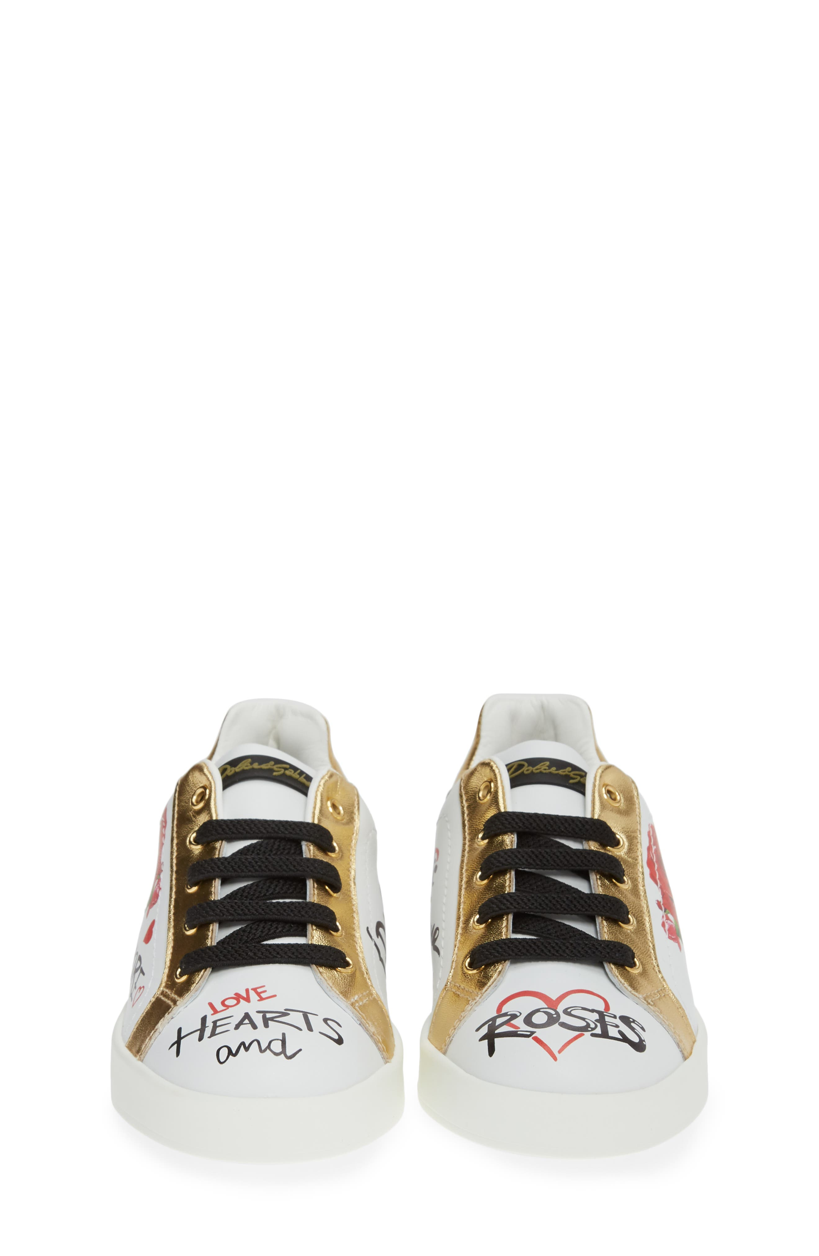 Amore Low Top Sneaker,                             Alternate thumbnail 4, color,                             WHITE