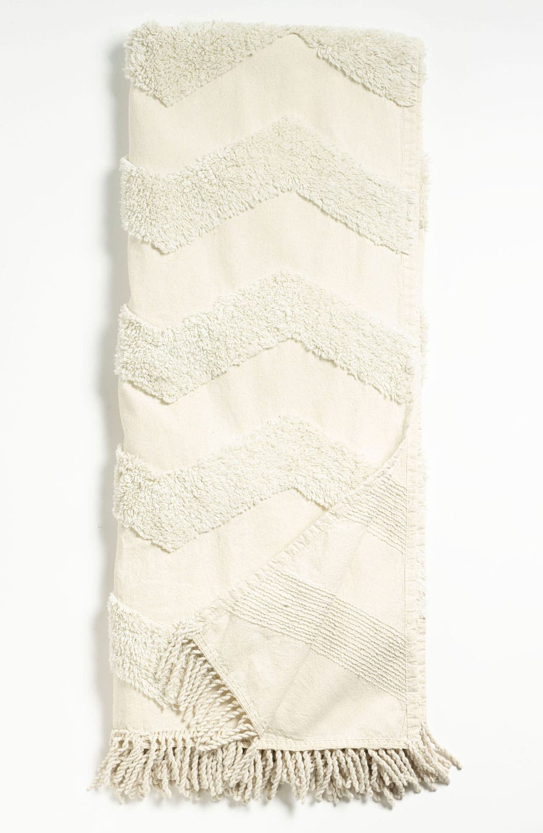 Zigzag Tufted Throw,                             Main thumbnail 1, color,
