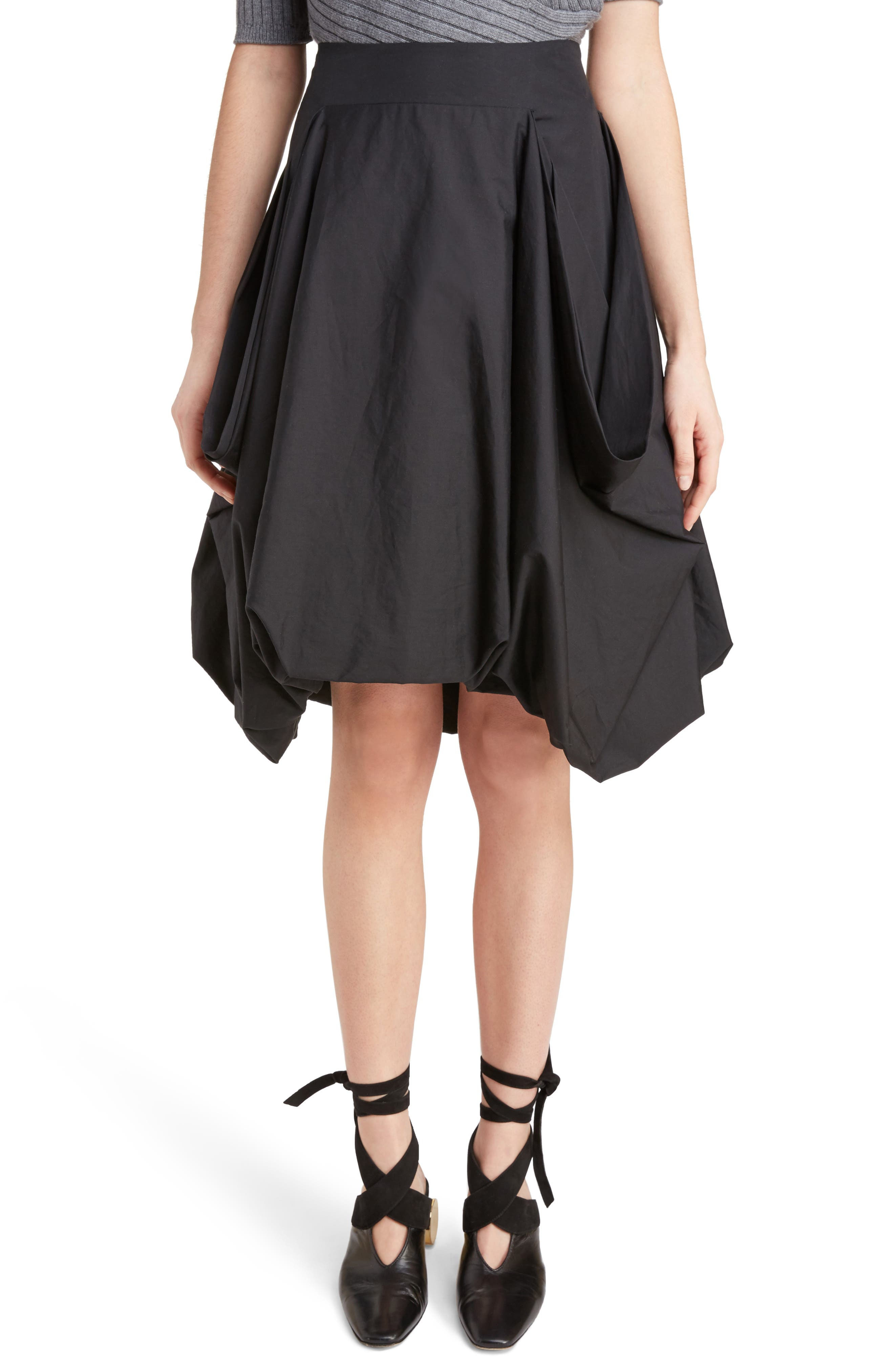 J.W.ANDERSON Drape Pockets Pleated Skirt,                         Main,                         color, 001