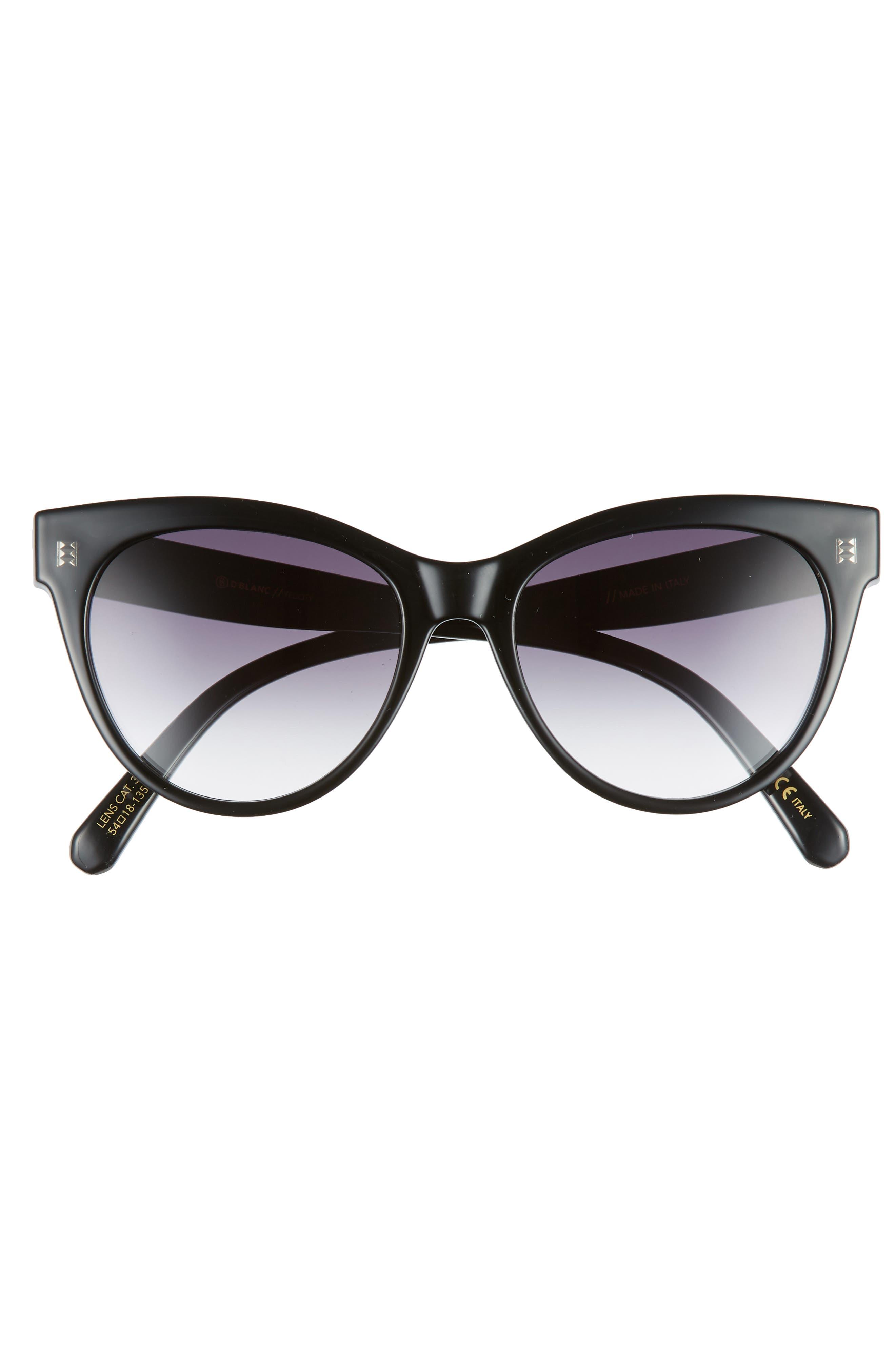 D'BLANC Felicity 54mm Cat Eye Sunglasses,                             Alternate thumbnail 3, color,                             001