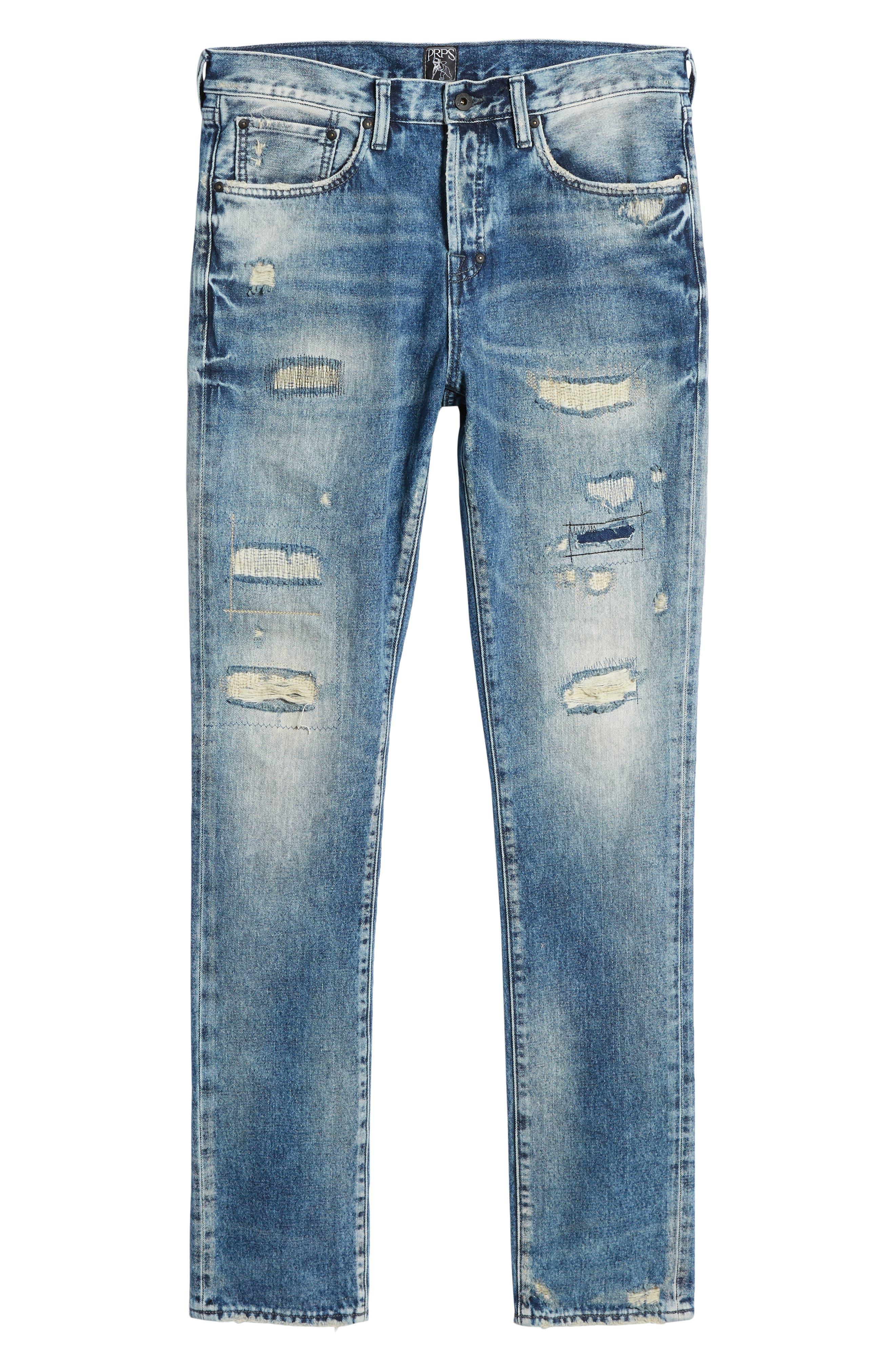 Demon Slim Straight Leg Jeans,                             Alternate thumbnail 6, color,                             MEXICO