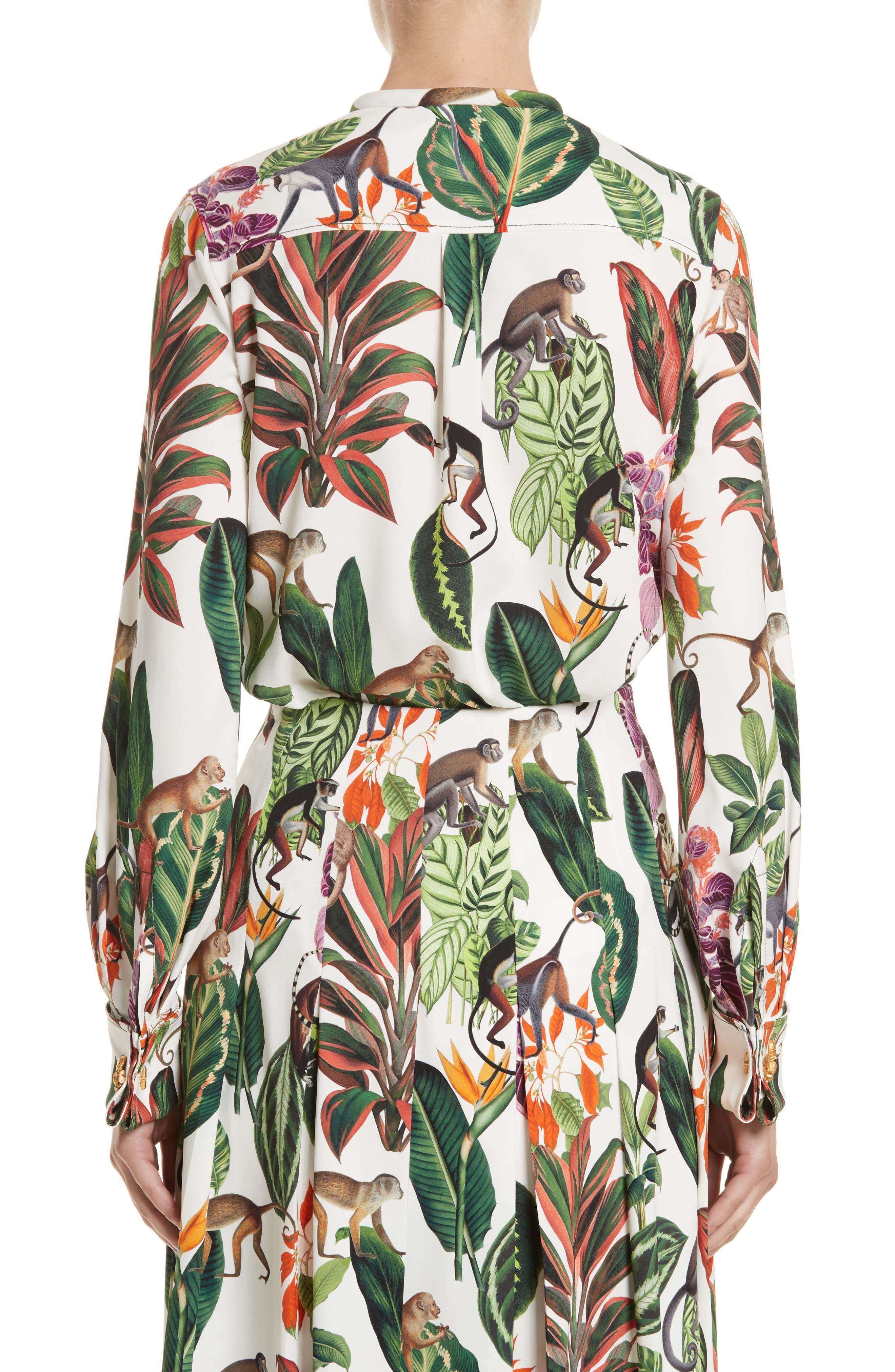 Jungle Print Georgette Blouse,                             Alternate thumbnail 2, color,                             300