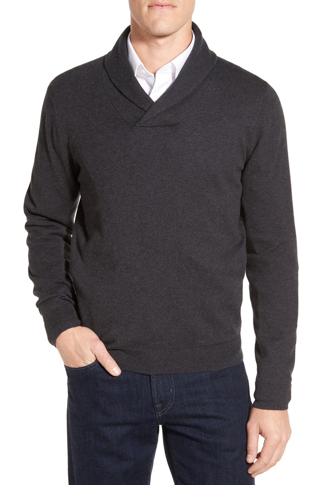 Men's Shop Shawl Collar Sweater,                             Main thumbnail 1, color,                             021