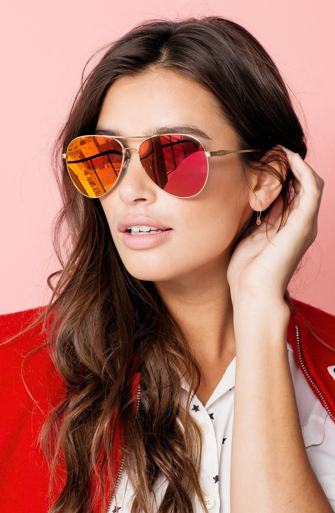 Lodi 62mm Mirrored Aviator Sunglasses,                             Alternate thumbnail 28, color,