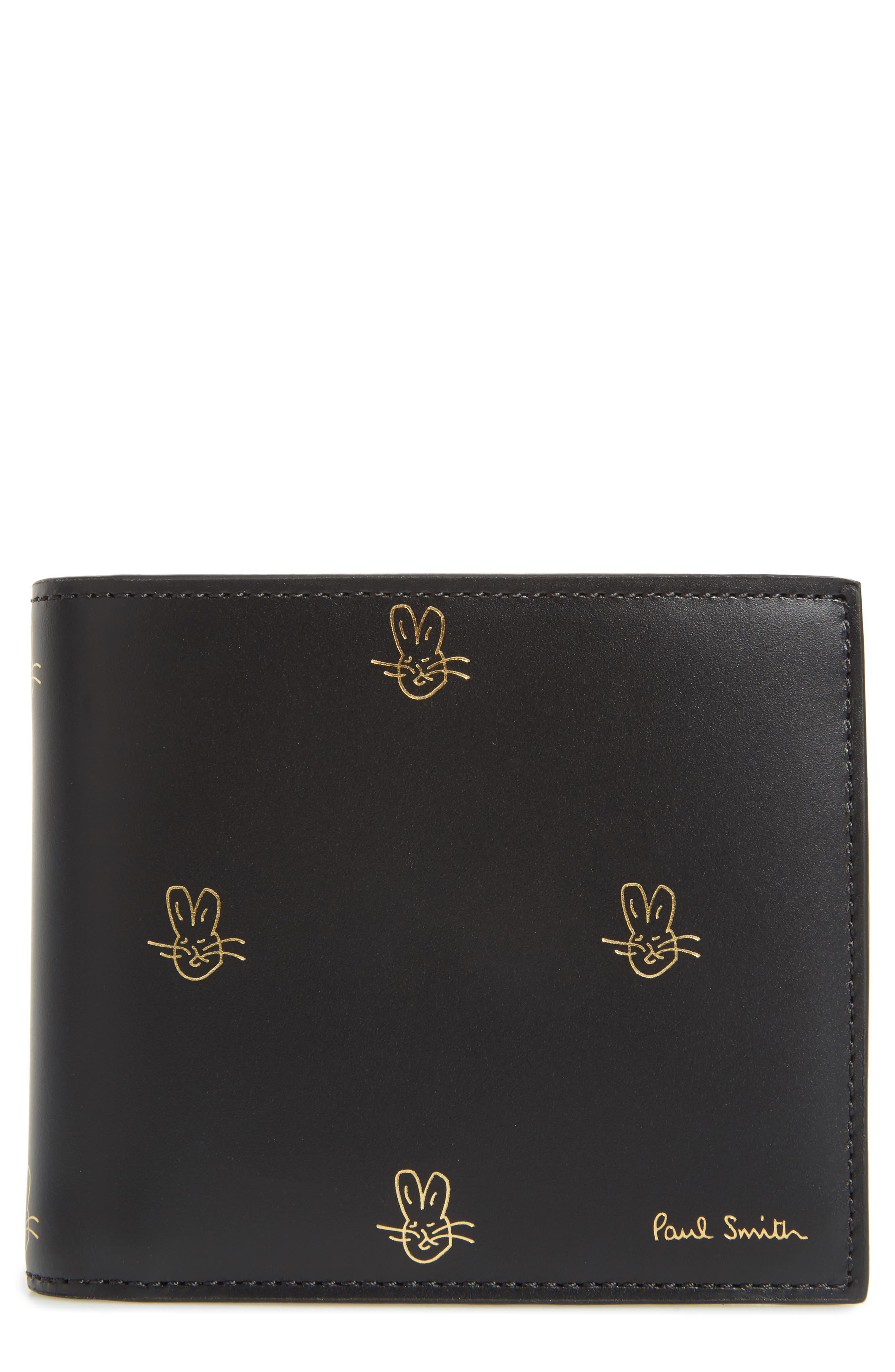Doodles Leather Billfold Wallet,                         Main,                         color,