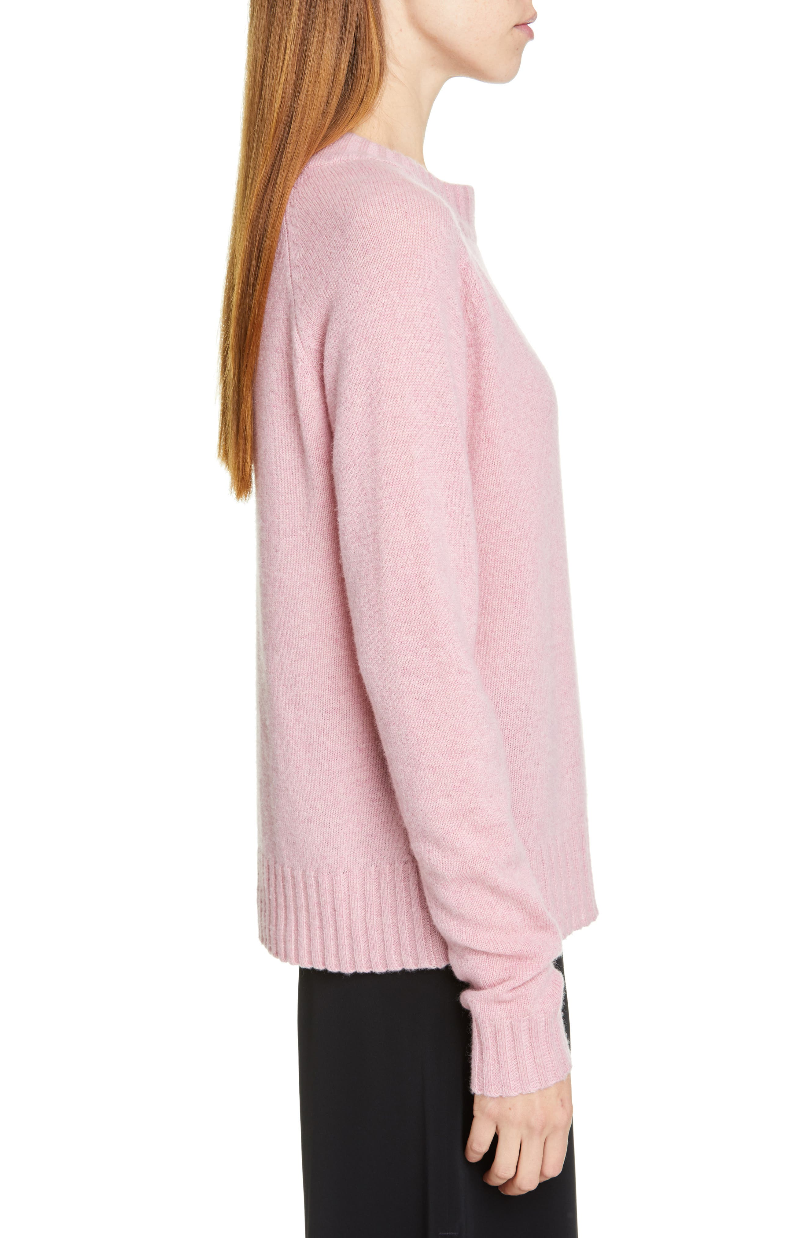 Cashmere Sweater,                             Alternate thumbnail 3, color,                             PINK