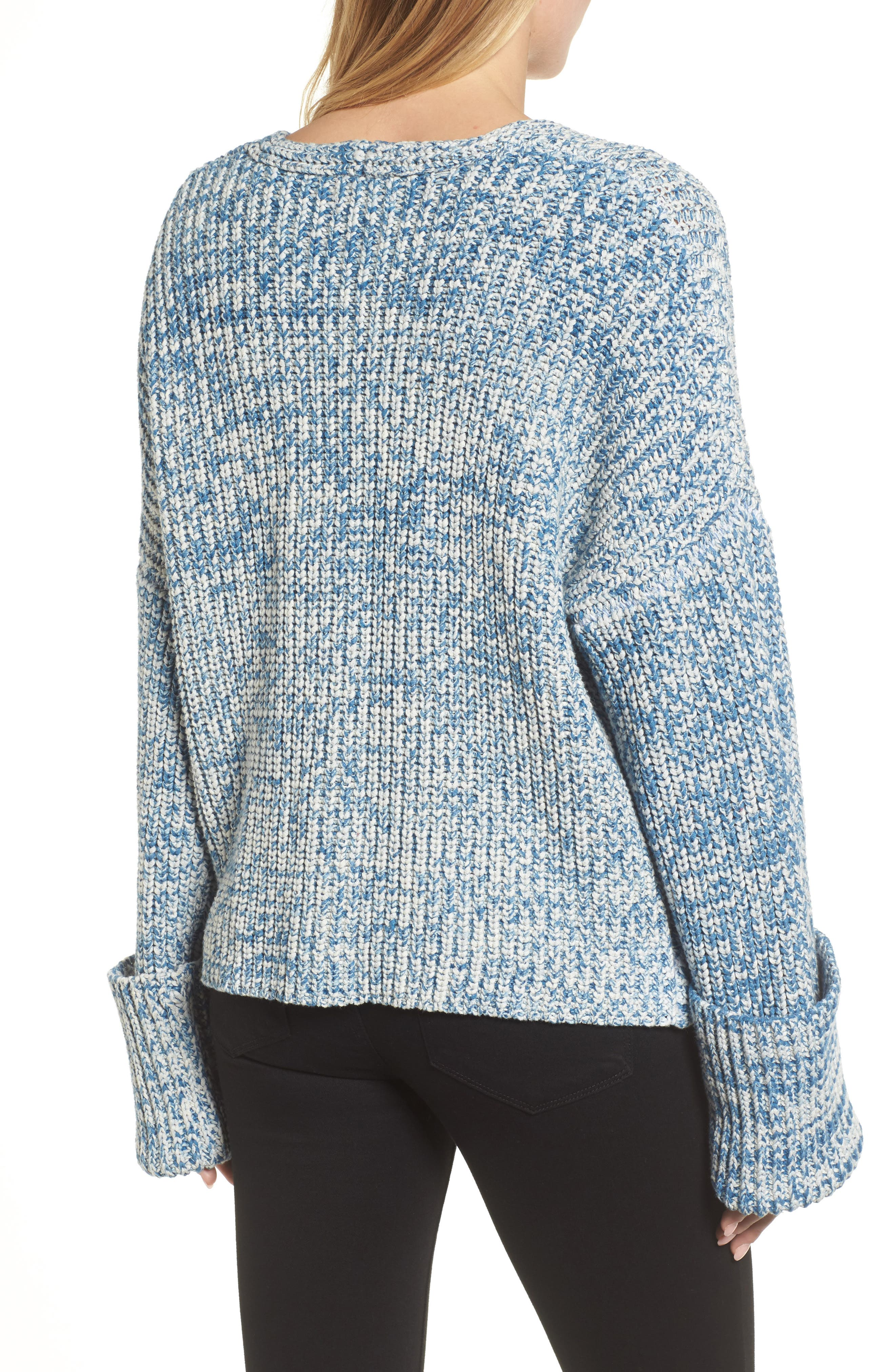 KENNETH COLE NEW YORK,                             Knit V-Neck Sweater,                             Alternate thumbnail 2, color,                             473