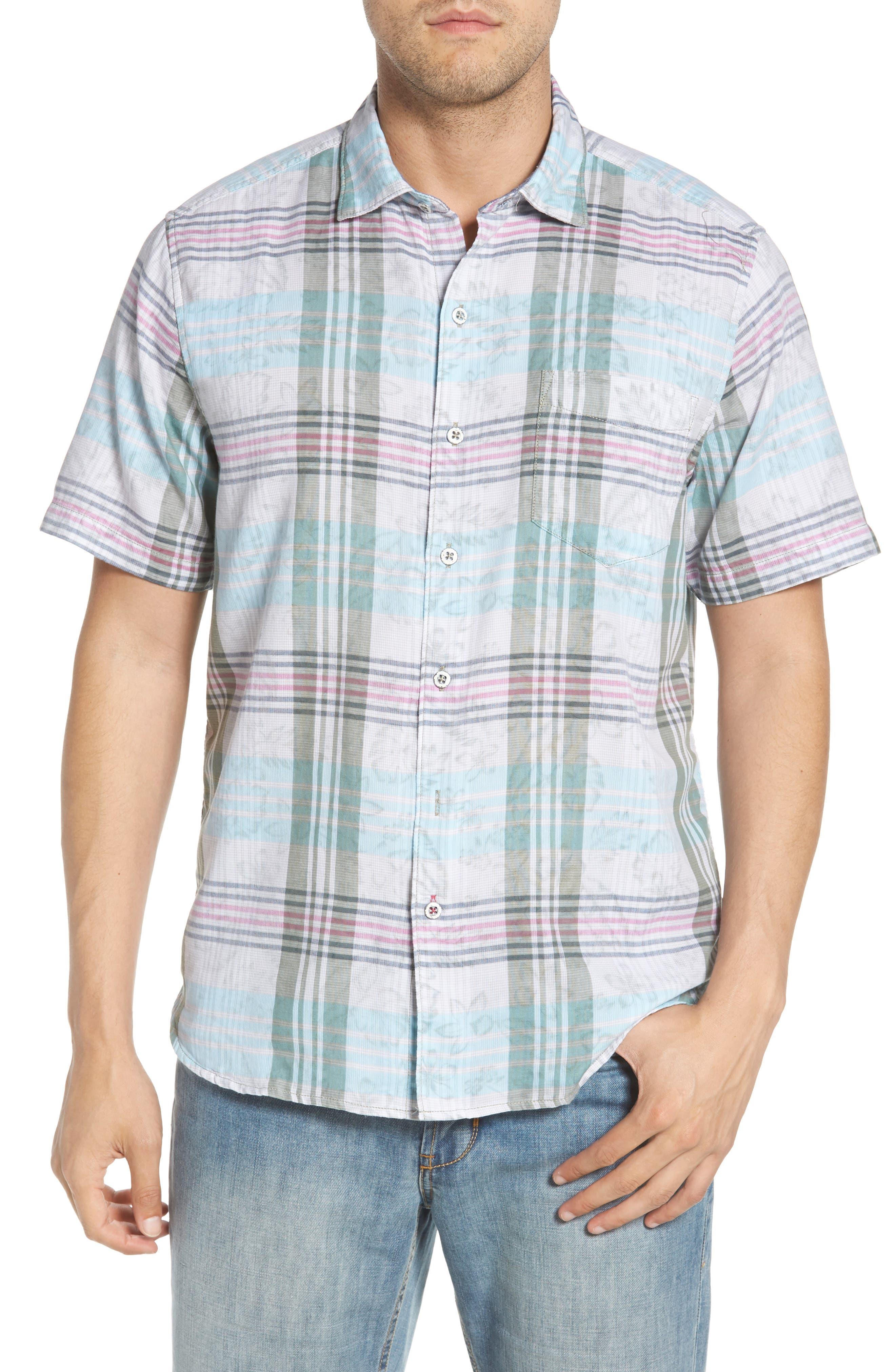 Zuma Plaid Sport Shirt,                         Main,                         color, 300