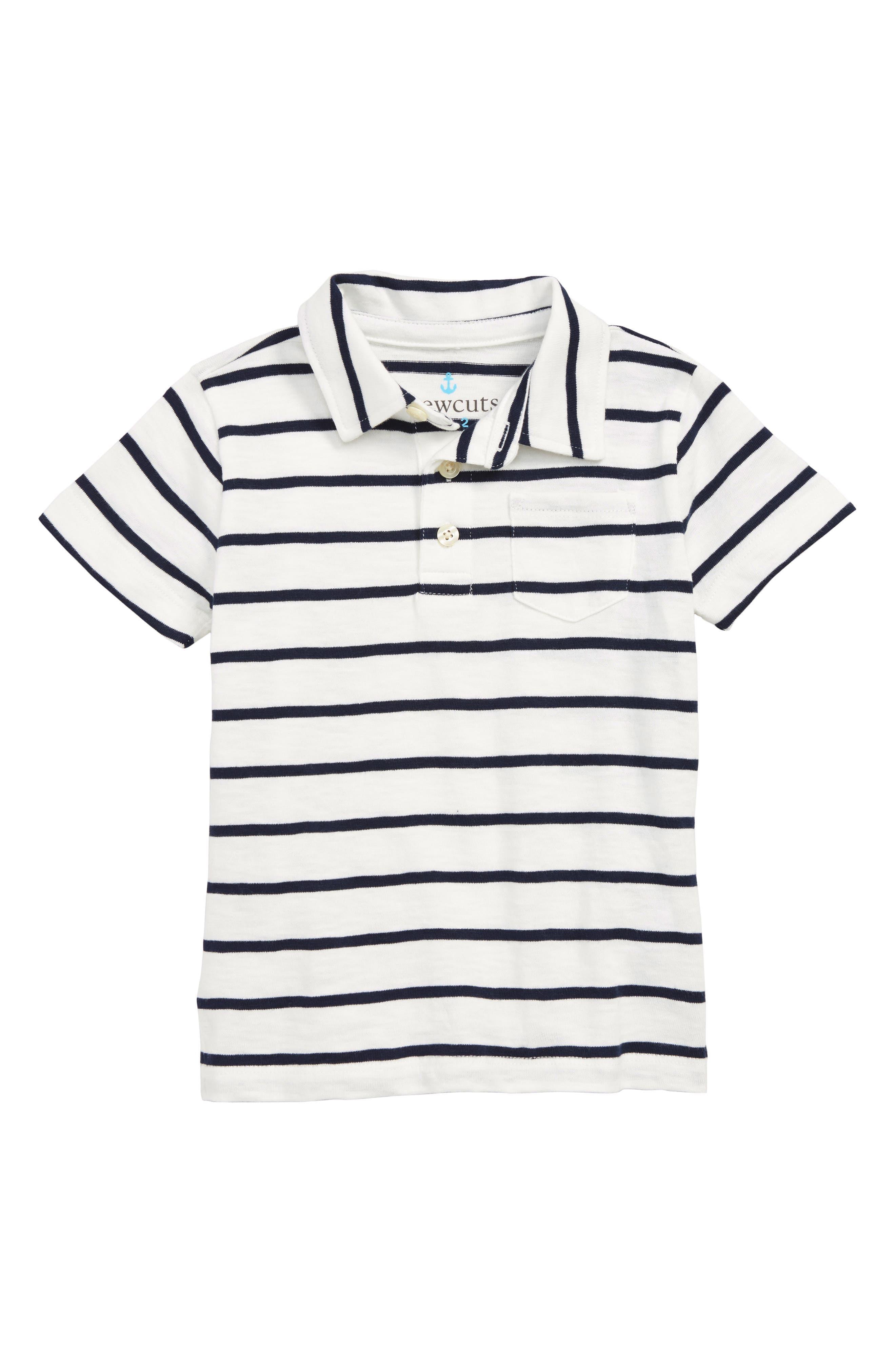 Stripe Polo, Main, color, IVORY