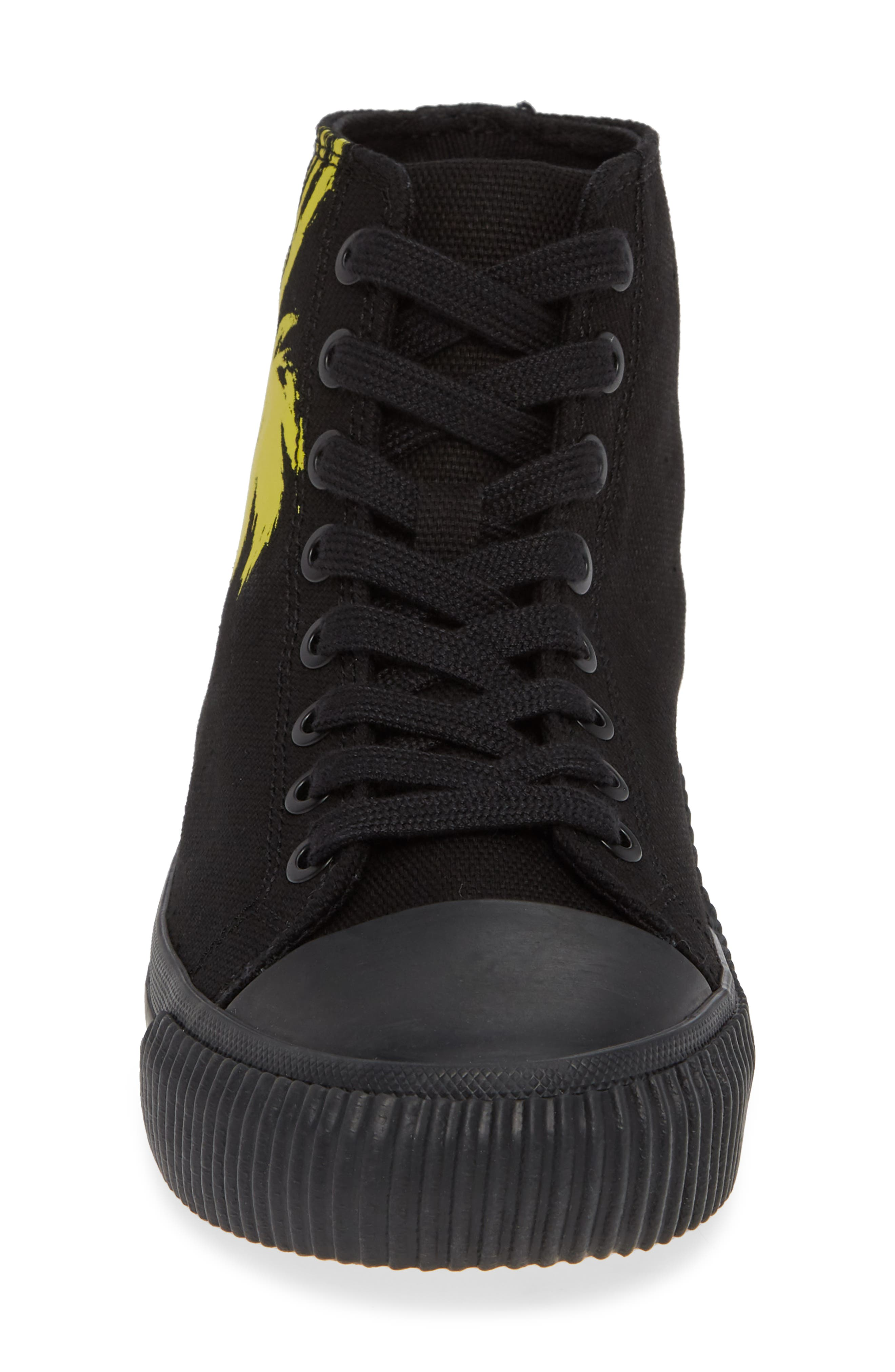 Iconica High Top Sneaker,                             Alternate thumbnail 4, color,                             001