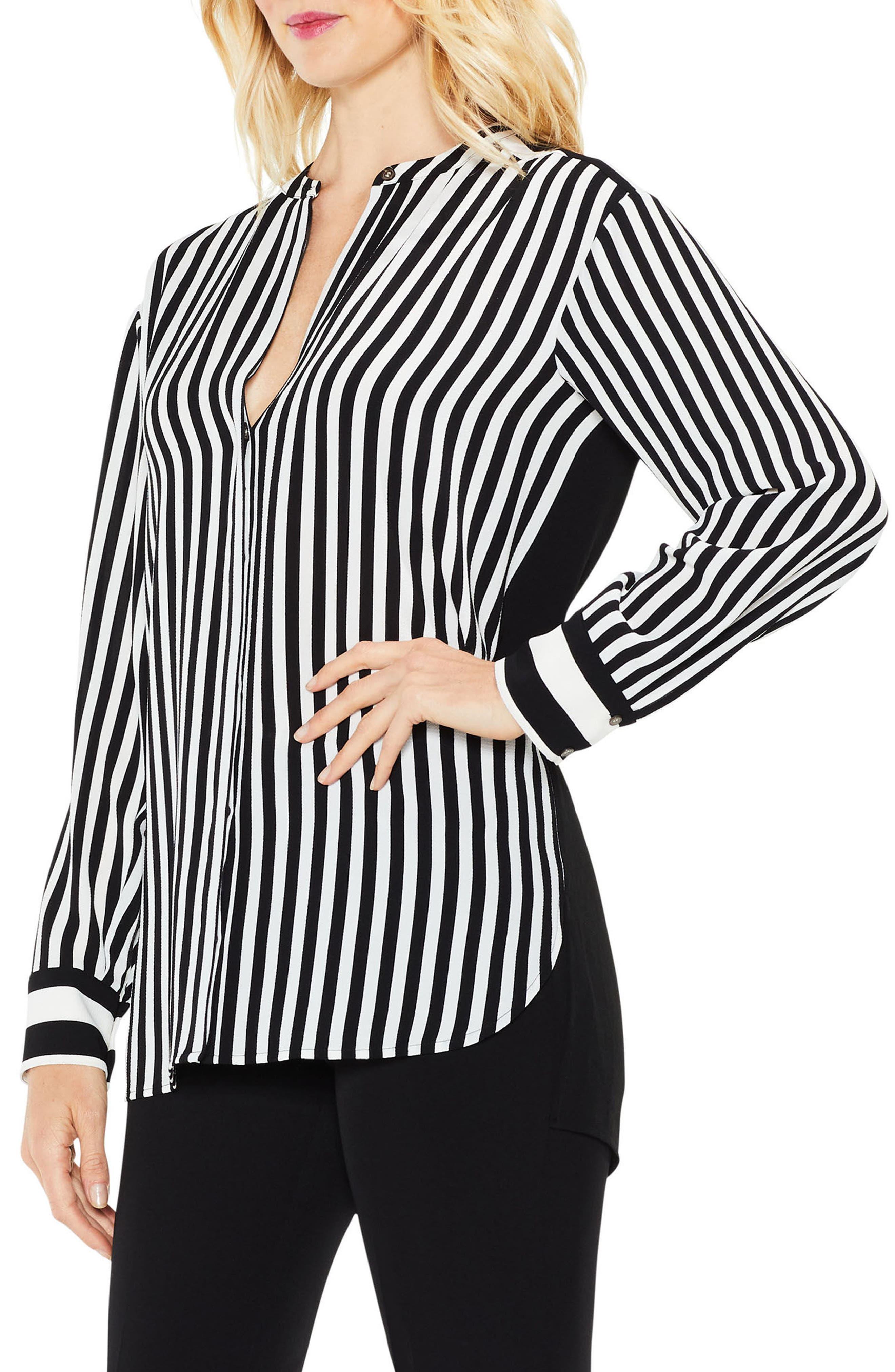 Debut Mix Stripe Tunic,                         Main,                         color, 010