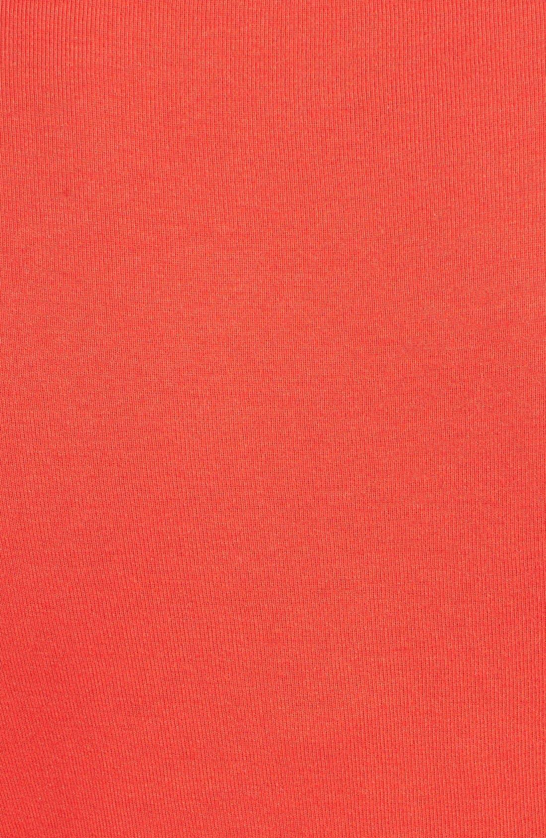 Ballet Neck Cotton & Modal Knit Elbow Sleeve Tee,                             Alternate thumbnail 208, color,