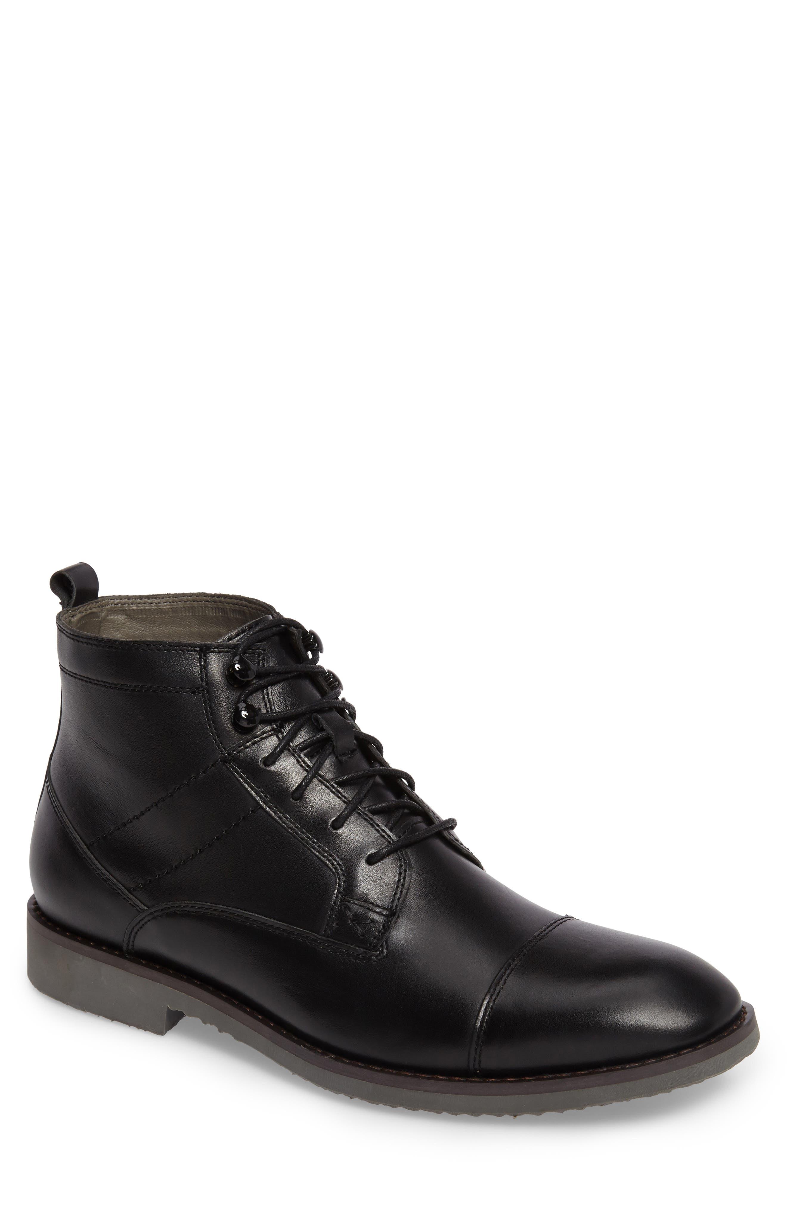 Ensor Cap Toe Boot,                         Main,                         color, 001