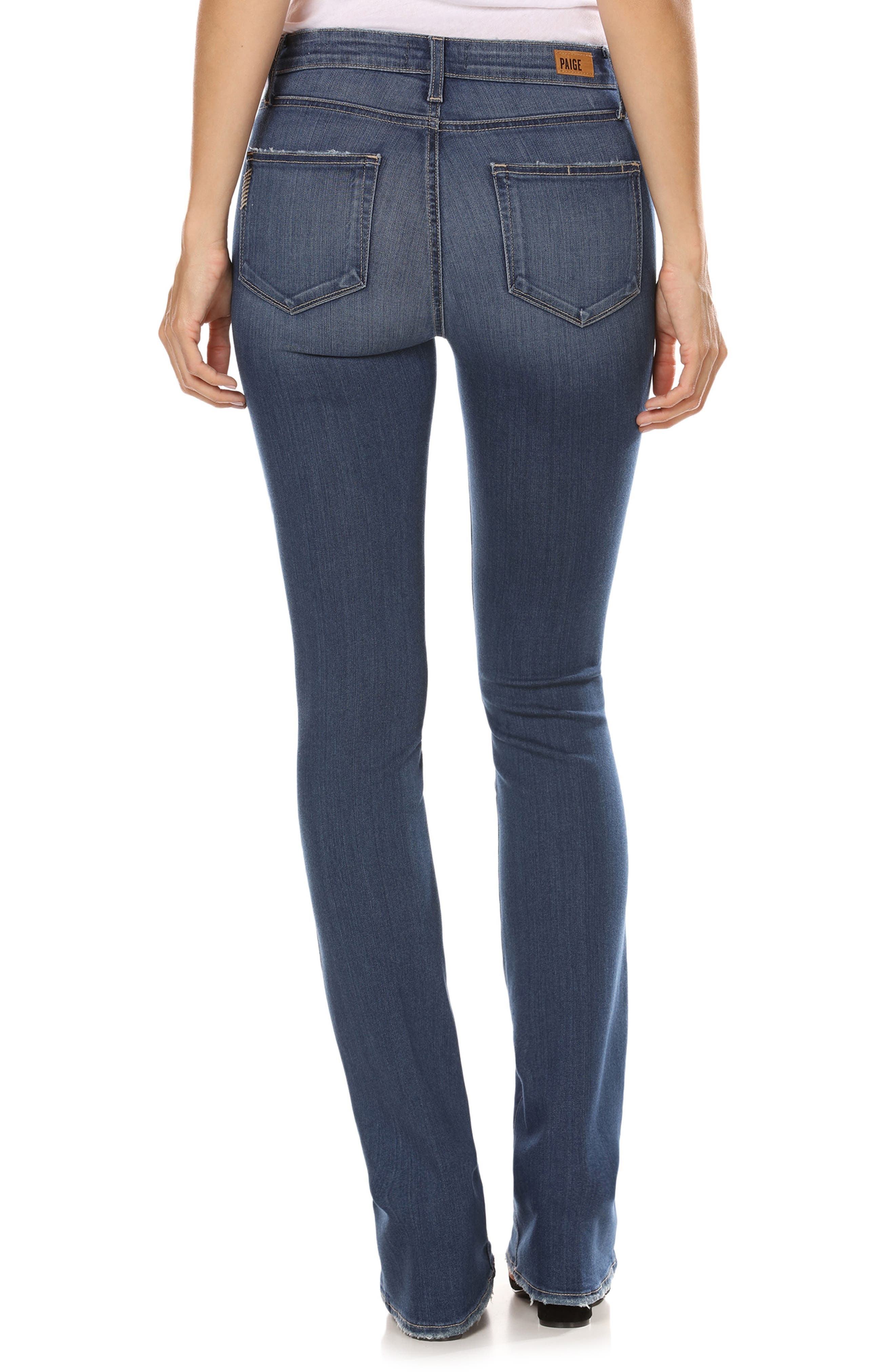 Transcend - Manhattan High Waist Bootcut Jeans,                             Alternate thumbnail 2, color,