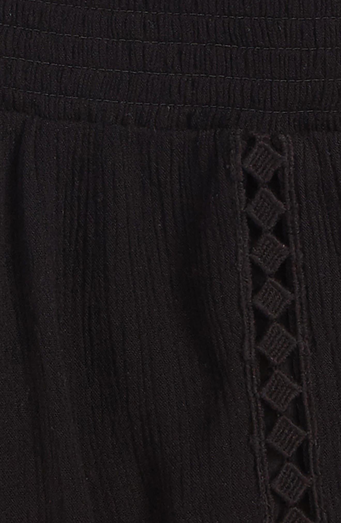 Elsa Smocked Waist Shorts,                             Alternate thumbnail 2, color,                             001