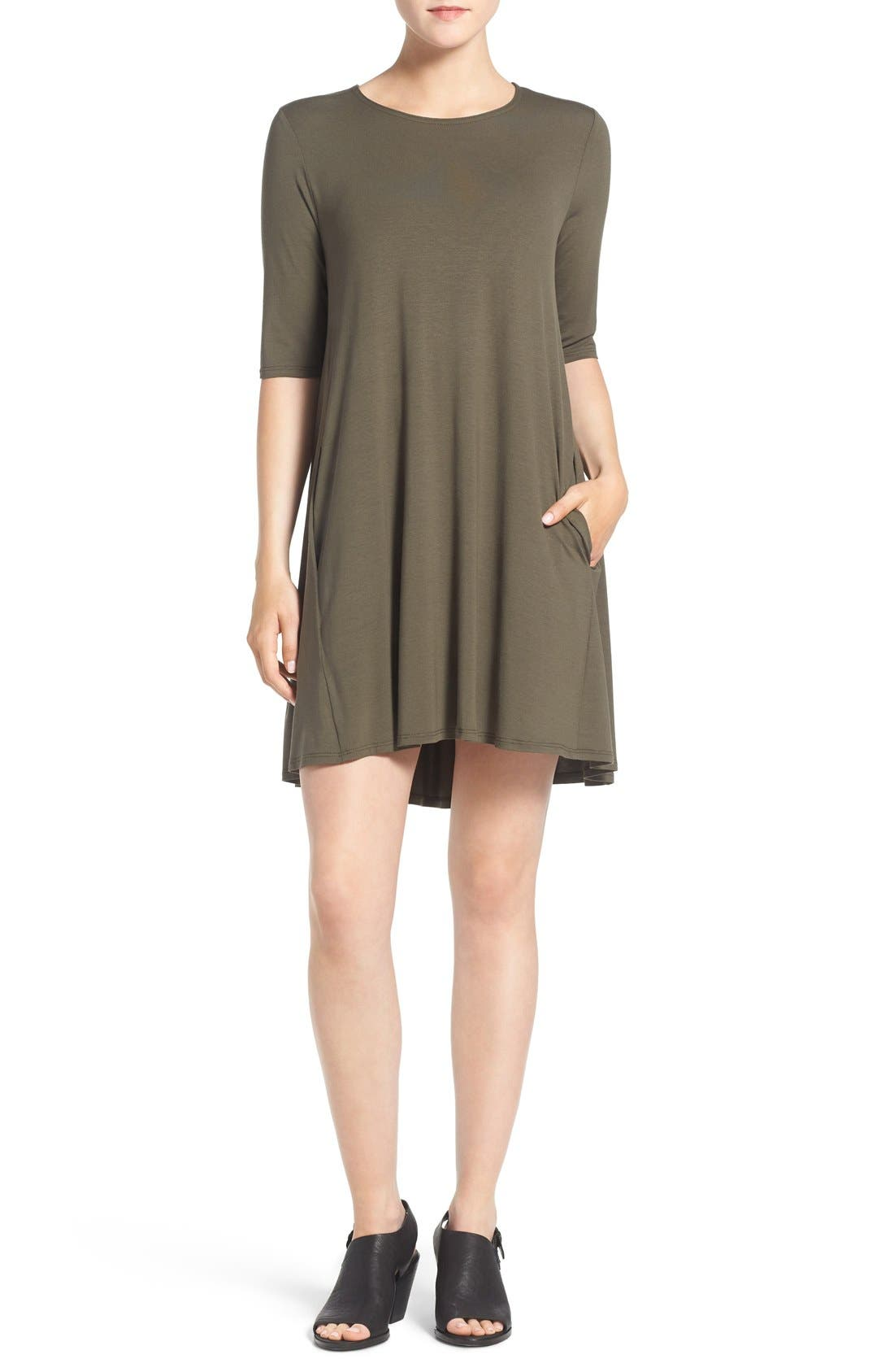 Lightweight Jersey Round Neck Tunic,                             Main thumbnail 3, color,