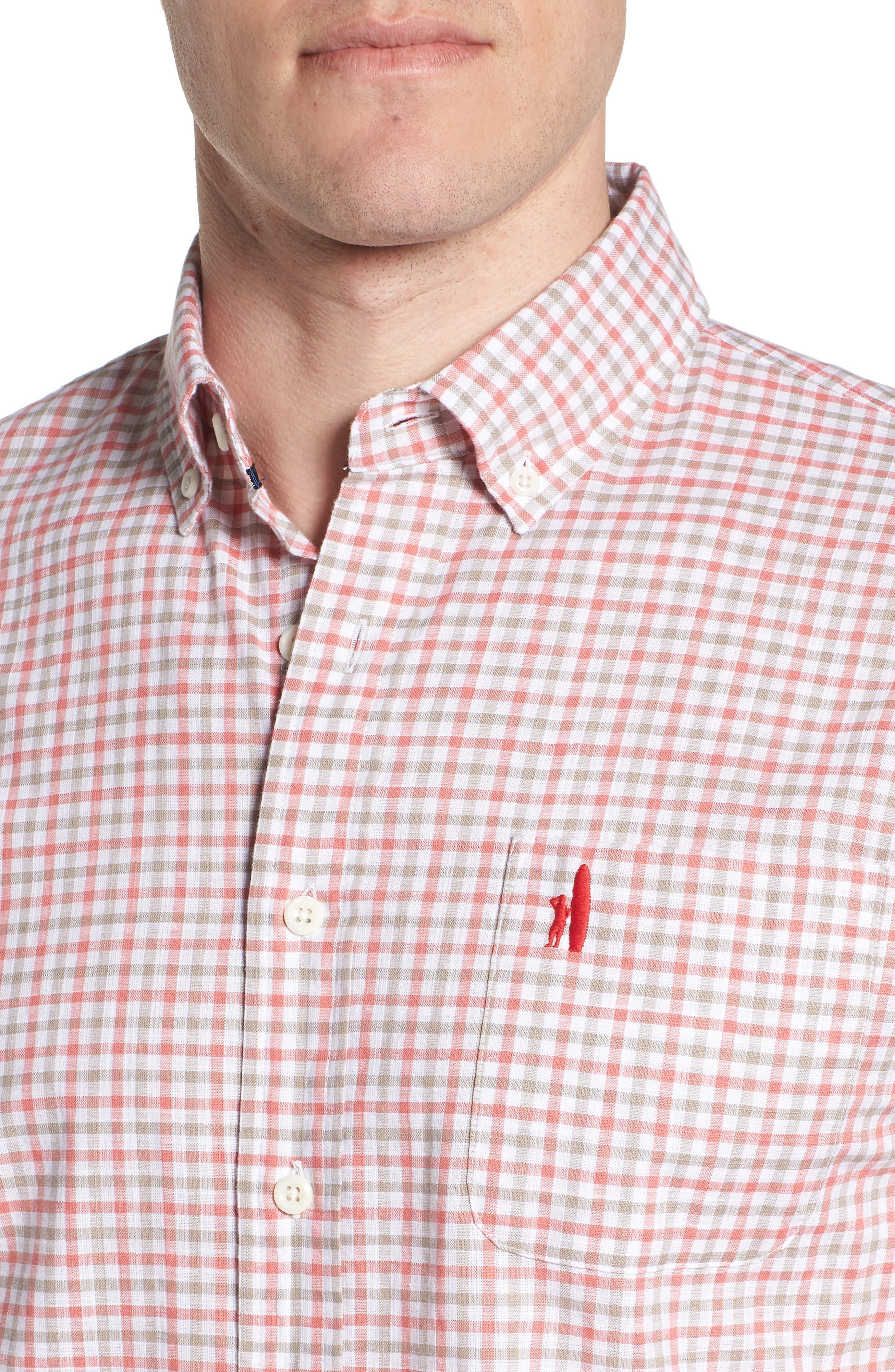 JOHNNIE-O,                             Driscoll Regular Fit Sport Shirt,                             Alternate thumbnail 4, color,                             630