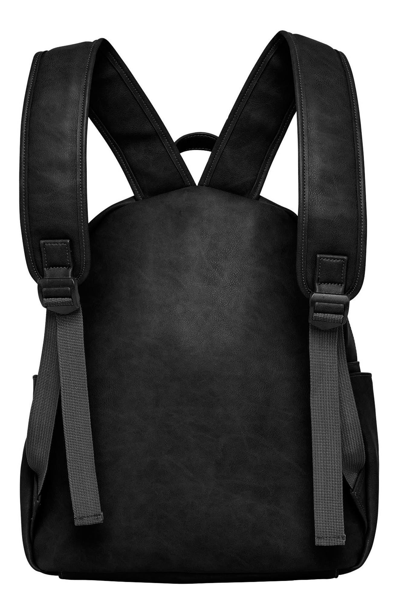 Practical Vegan Leather Backpack,                             Alternate thumbnail 2, color,                             001