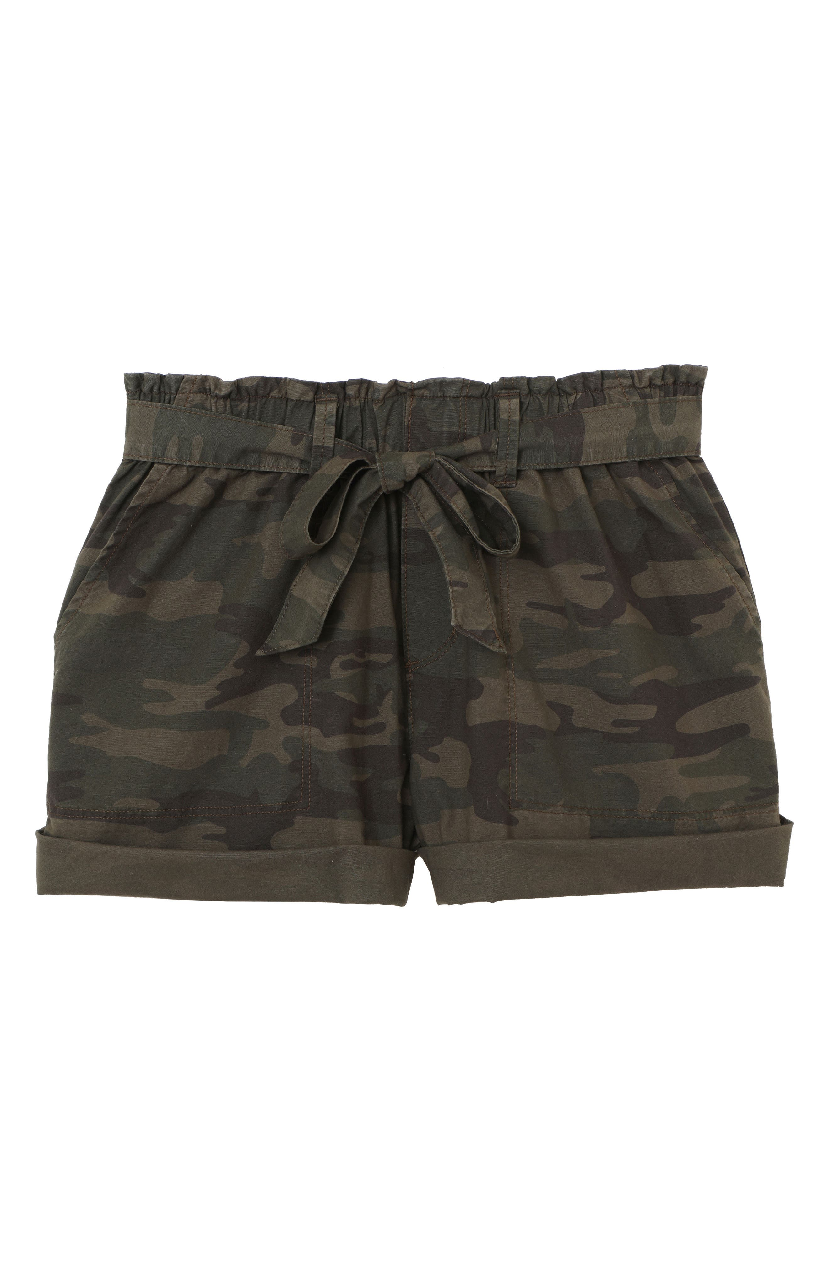 Daydreamer Stretch Cotton Camo Shorts,                             Alternate thumbnail 4, color,                             398