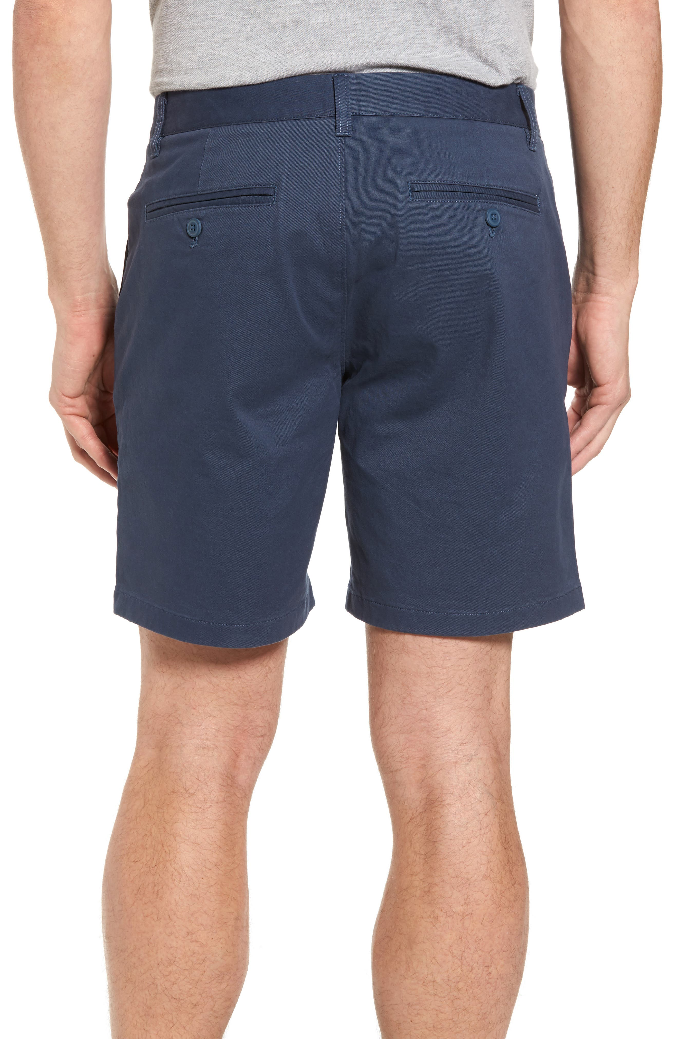 Stretch Washed Chino 7-Inch Shorts,                             Alternate thumbnail 2, color,                             STEELY