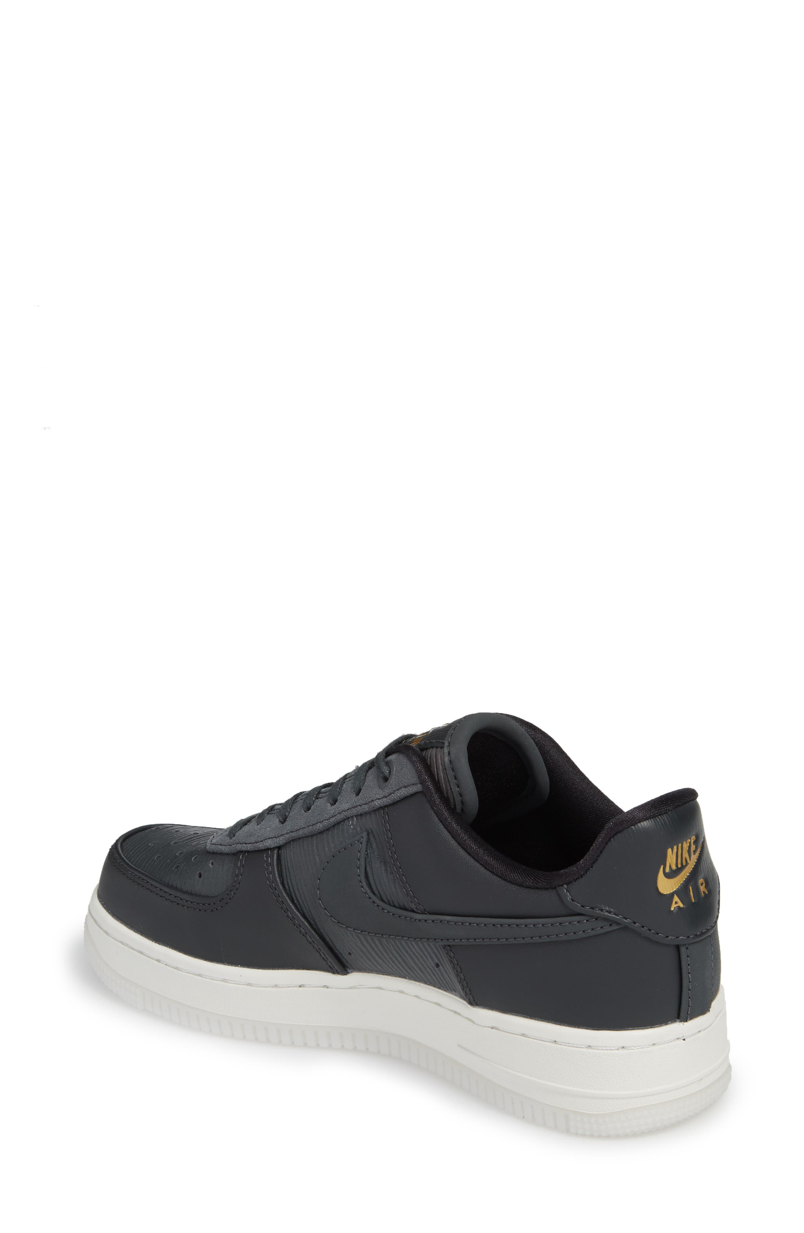Air Force 1 '07 LX Sneaker,                             Alternate thumbnail 2, color,                             ANTHRACITE/ ANTHRACITE