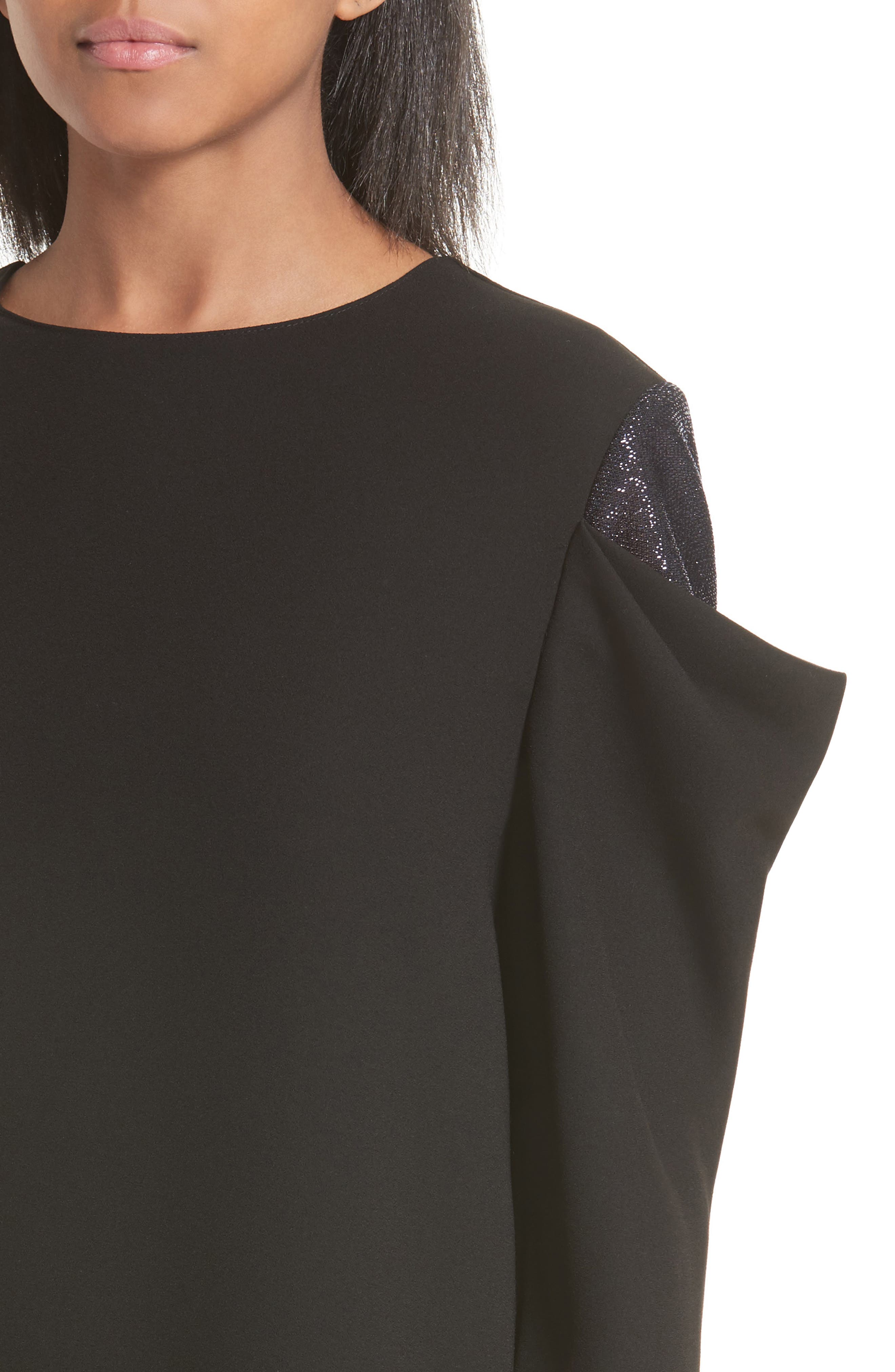 Metallic Drape Sleeve Top,                             Alternate thumbnail 4, color,                             017