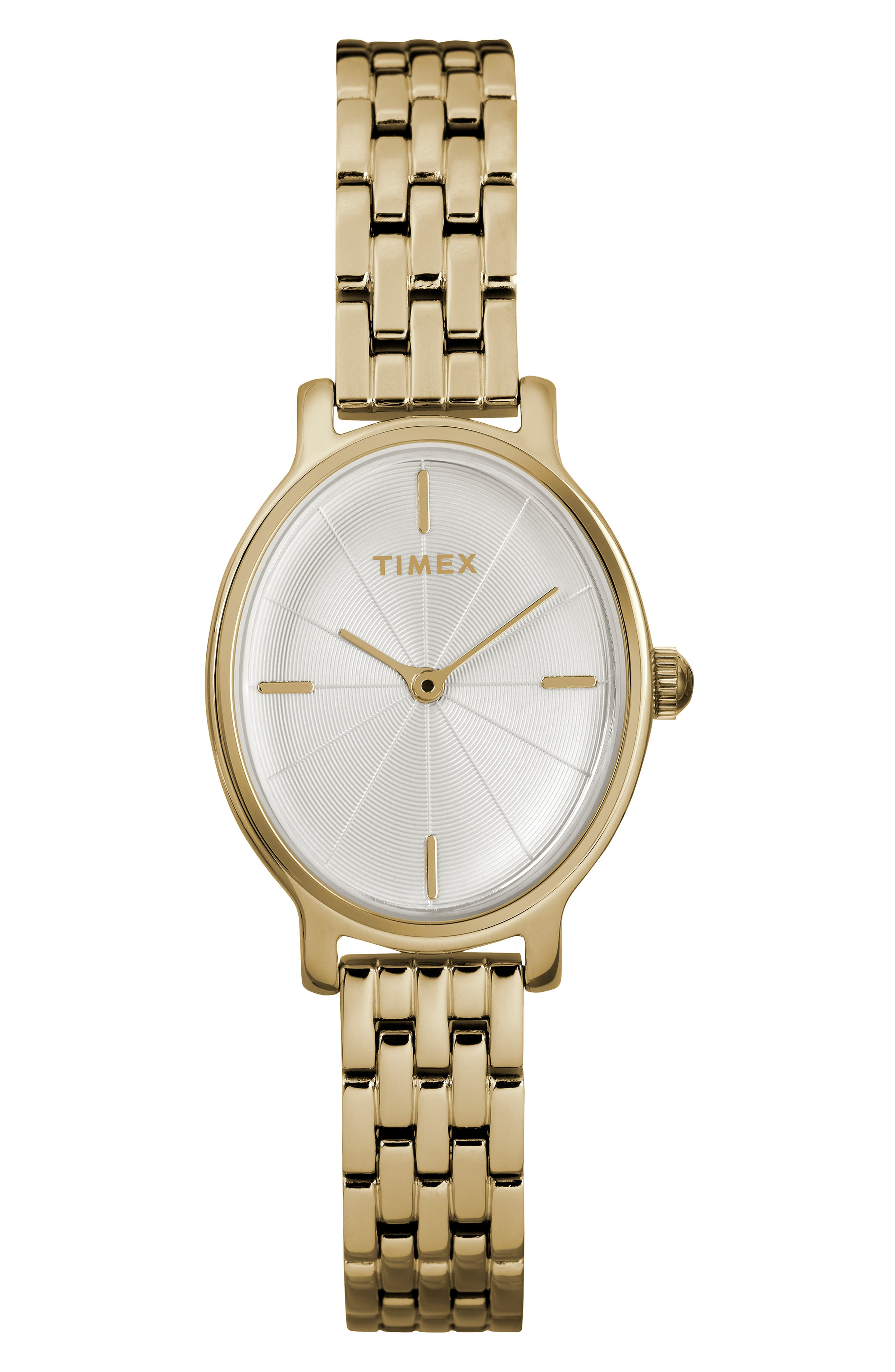 Milano Oval Bracelet Watch, 24mm, Main, color, GOLD/ SILVER