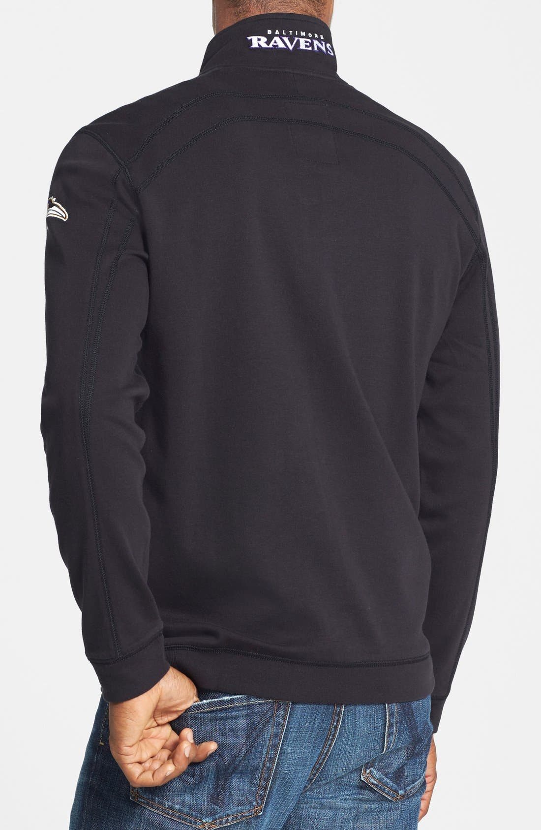 'Chicago Bears - NFL' Quarter Zip Pima Cotton Sweatshirt,                             Alternate thumbnail 3, color,                             001