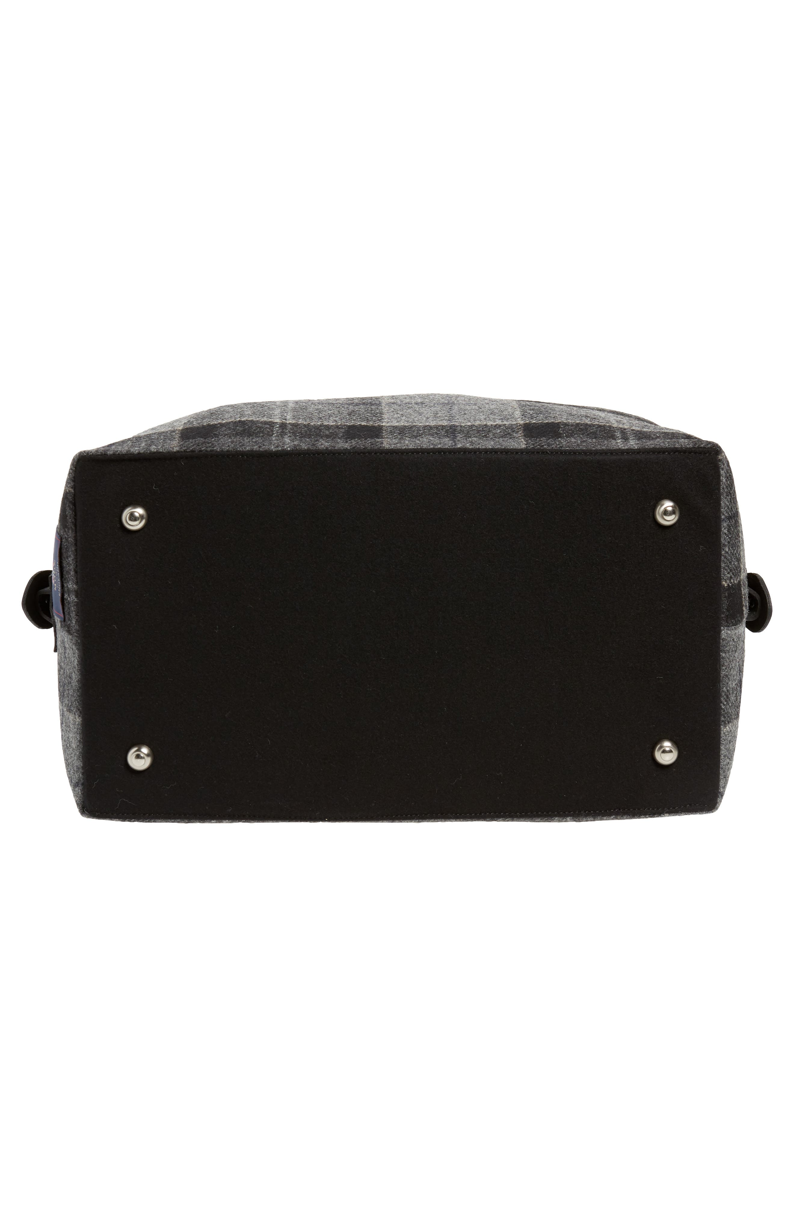 Shadow Duffel Bag,                             Alternate thumbnail 6, color,                             BLACK/ GREY TARTAN