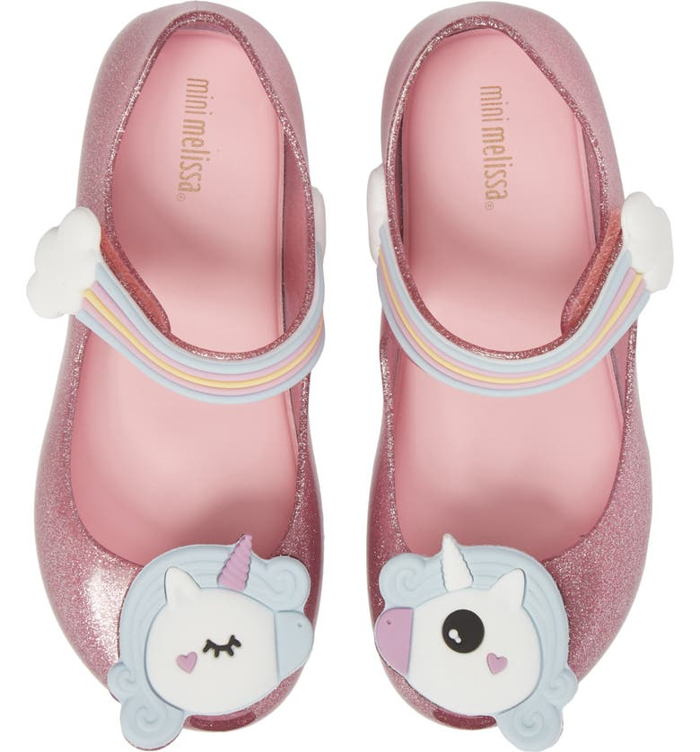 Mini Melissa Ultragirl Unicorn Glittery Mary Jane Flat (Walker ... 4488f32b2