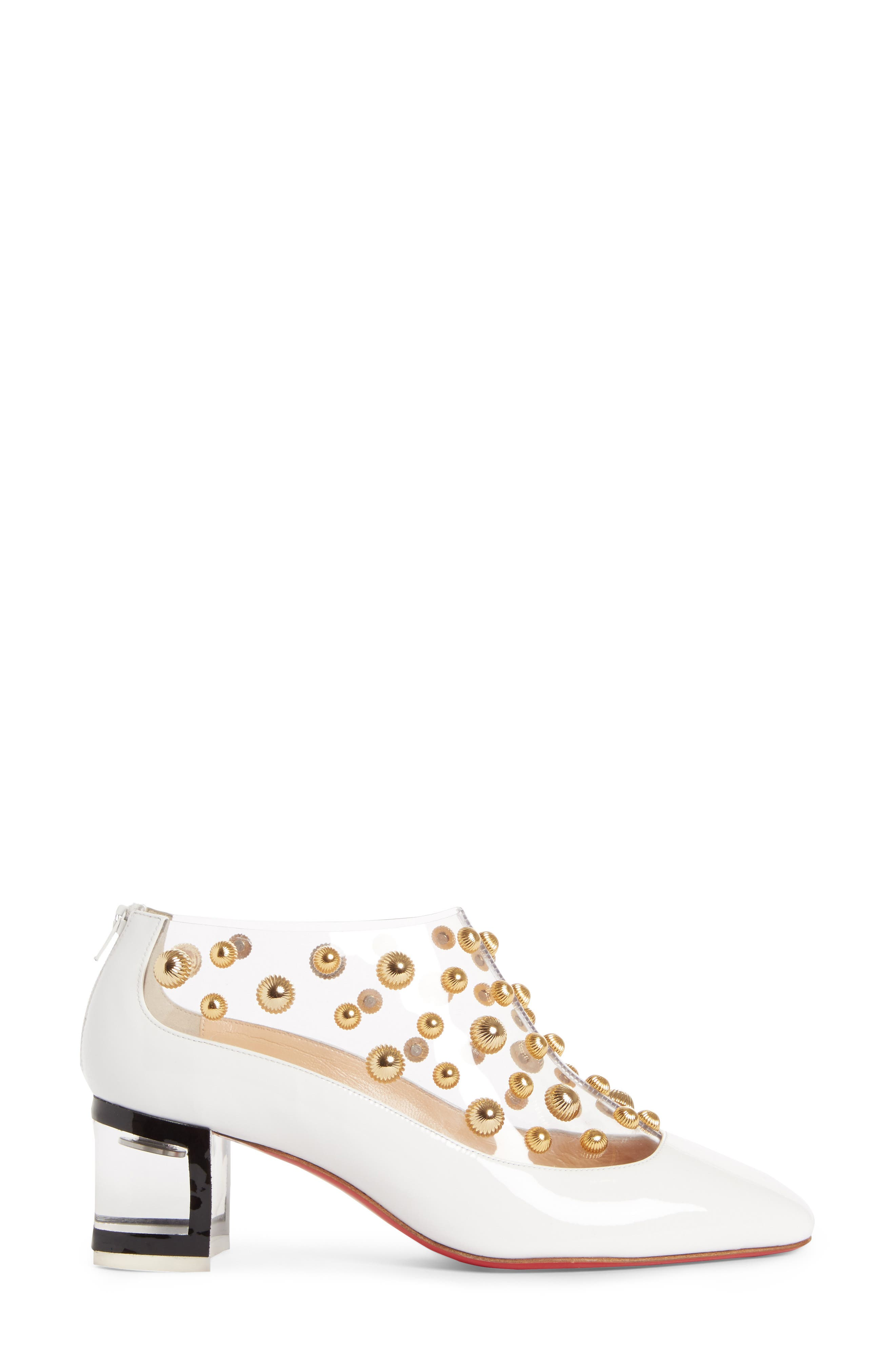 Studded Clear Pump,                             Alternate thumbnail 3, color,                             100