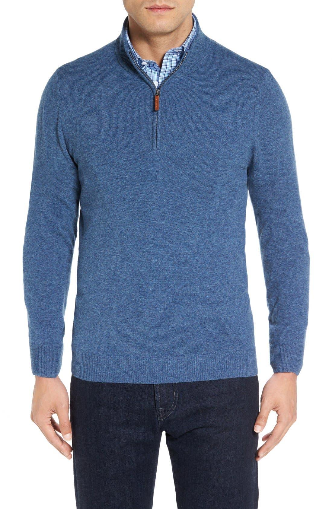 Cashmere Quarter Zip Sweater,                             Main thumbnail 10, color,