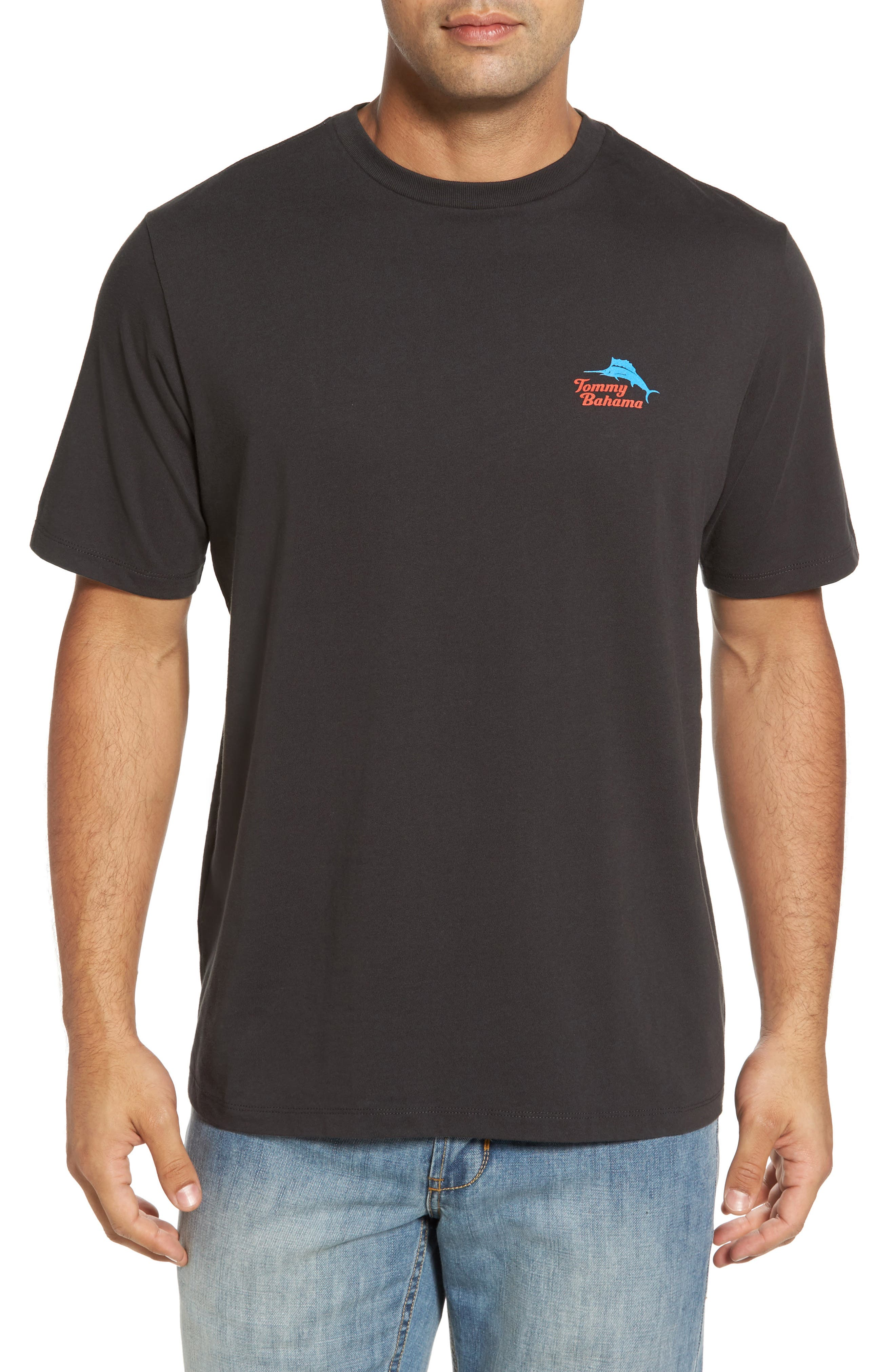 Bands Back T-Shirt,                         Main,                         color, 001